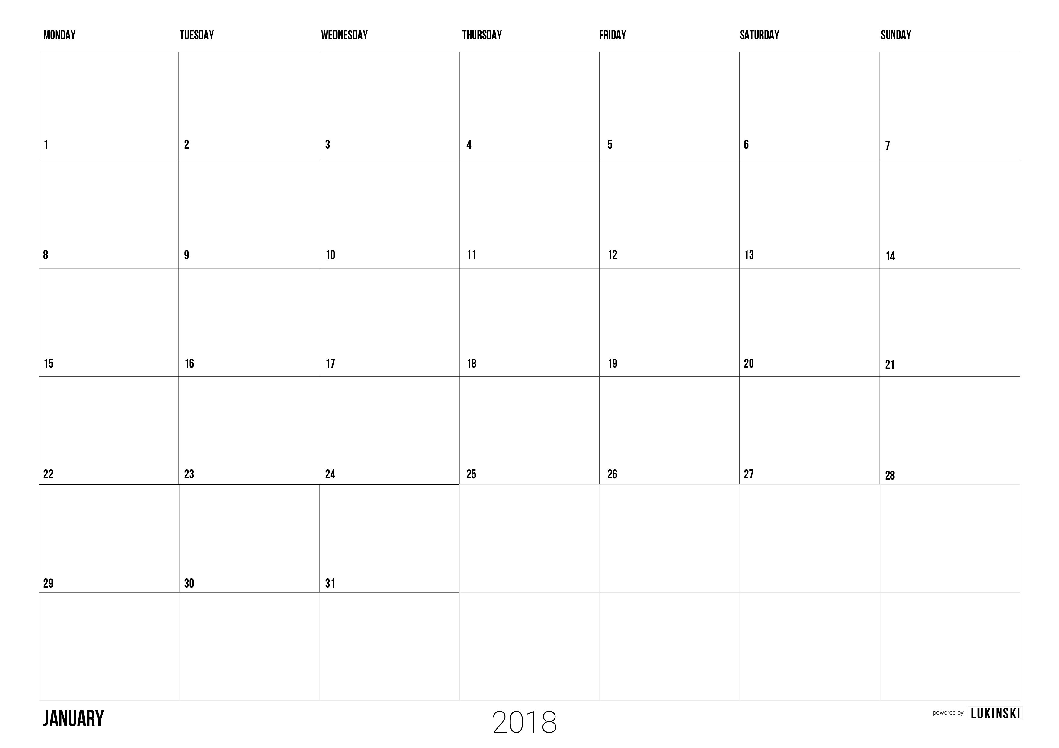 Postkartenkalender Drucken Calendar 2018 to Print Pdf Monthly Calendar Free for Team and Postkartenkalender