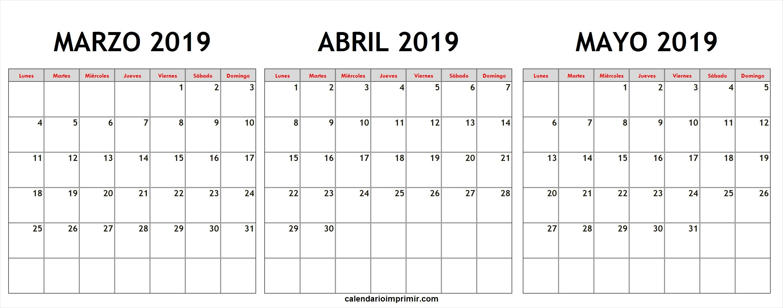 Calendario Mayo 2019 Para Imprimir Pinarkubkireklamoweco