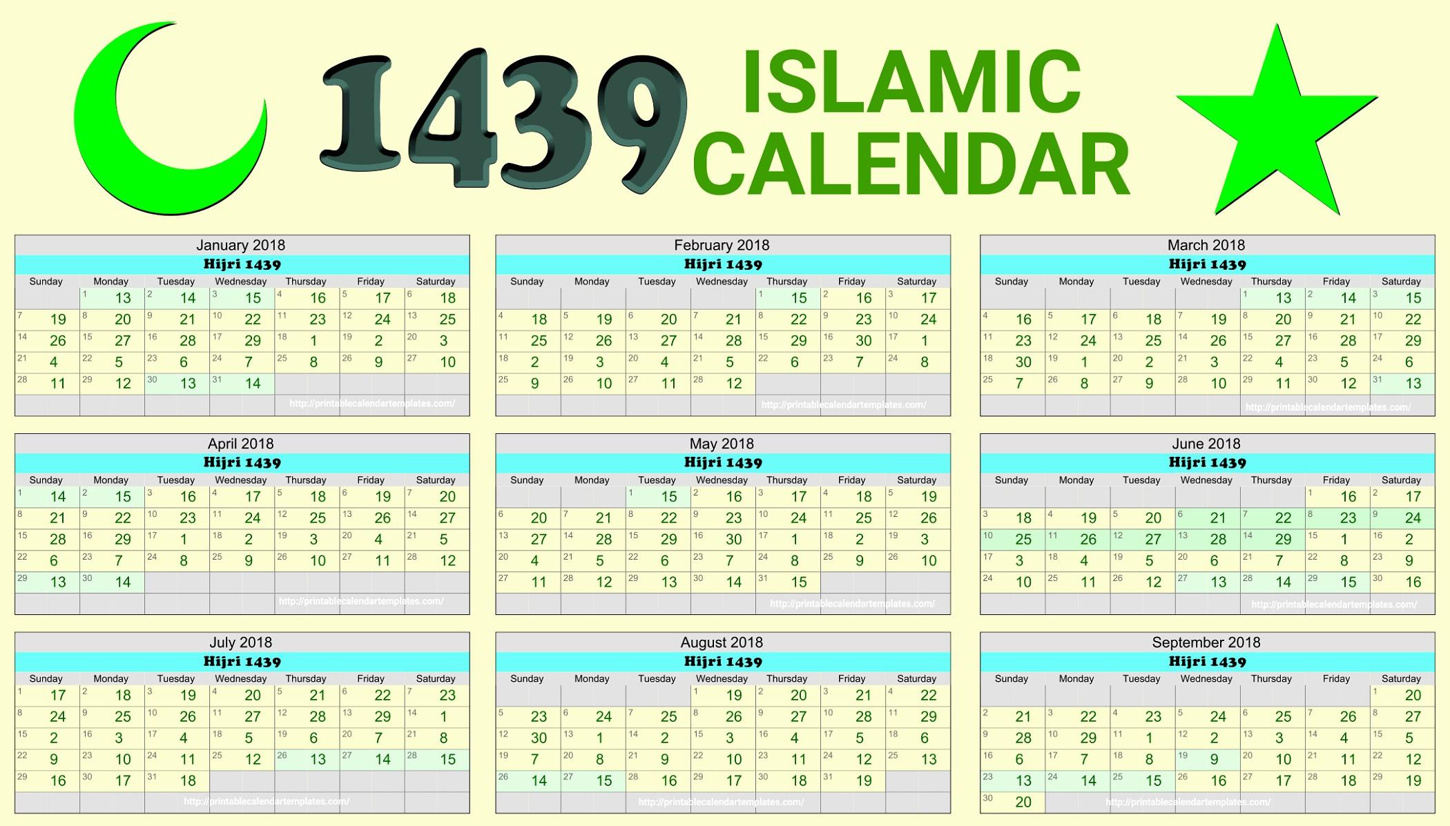 Islamic Calendar 2018 Uk Kalendar islam 2018 2 2018 Calendar Printable for Free Download India Usa