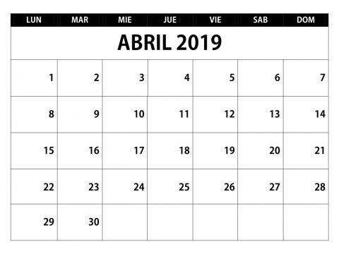 Calendario Escolar 2019 Bc Más Actual Calendario Abril 2019 Chile