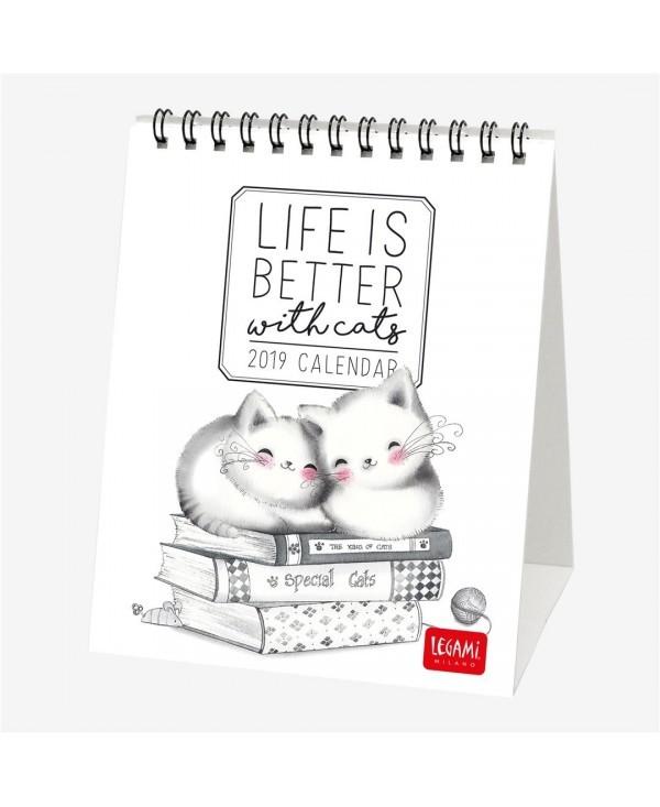 legami calendario da tavolo 12x145 special edition sketchy cats 2019 cal