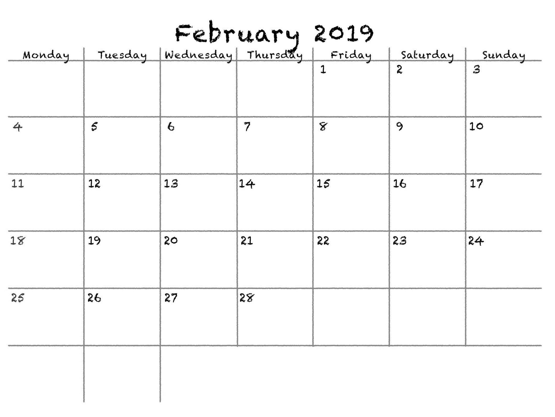 february 2019 calendar to edit printable 2018 calendars templates