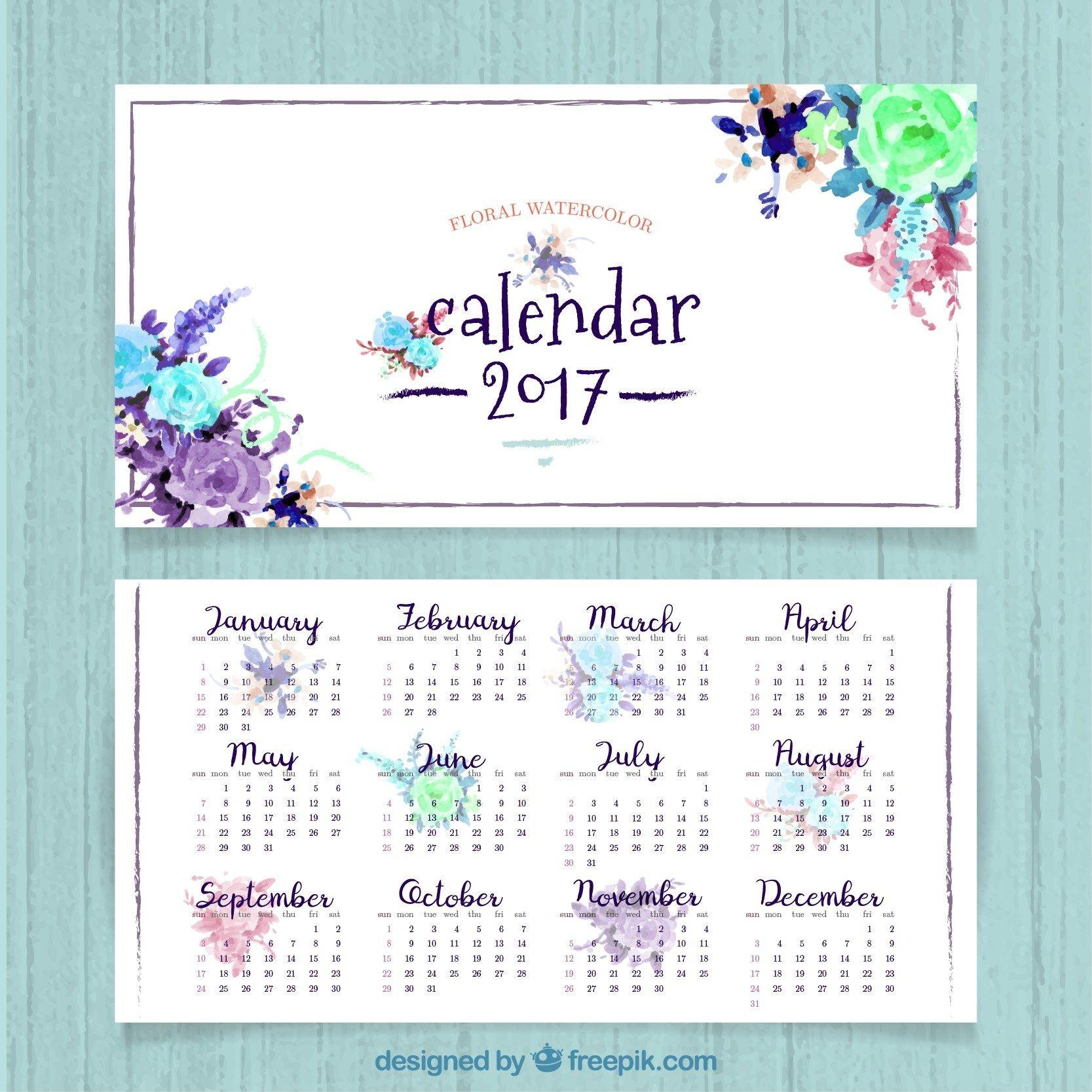 Descarga Este Calendario En Vectores Para Que Puedas