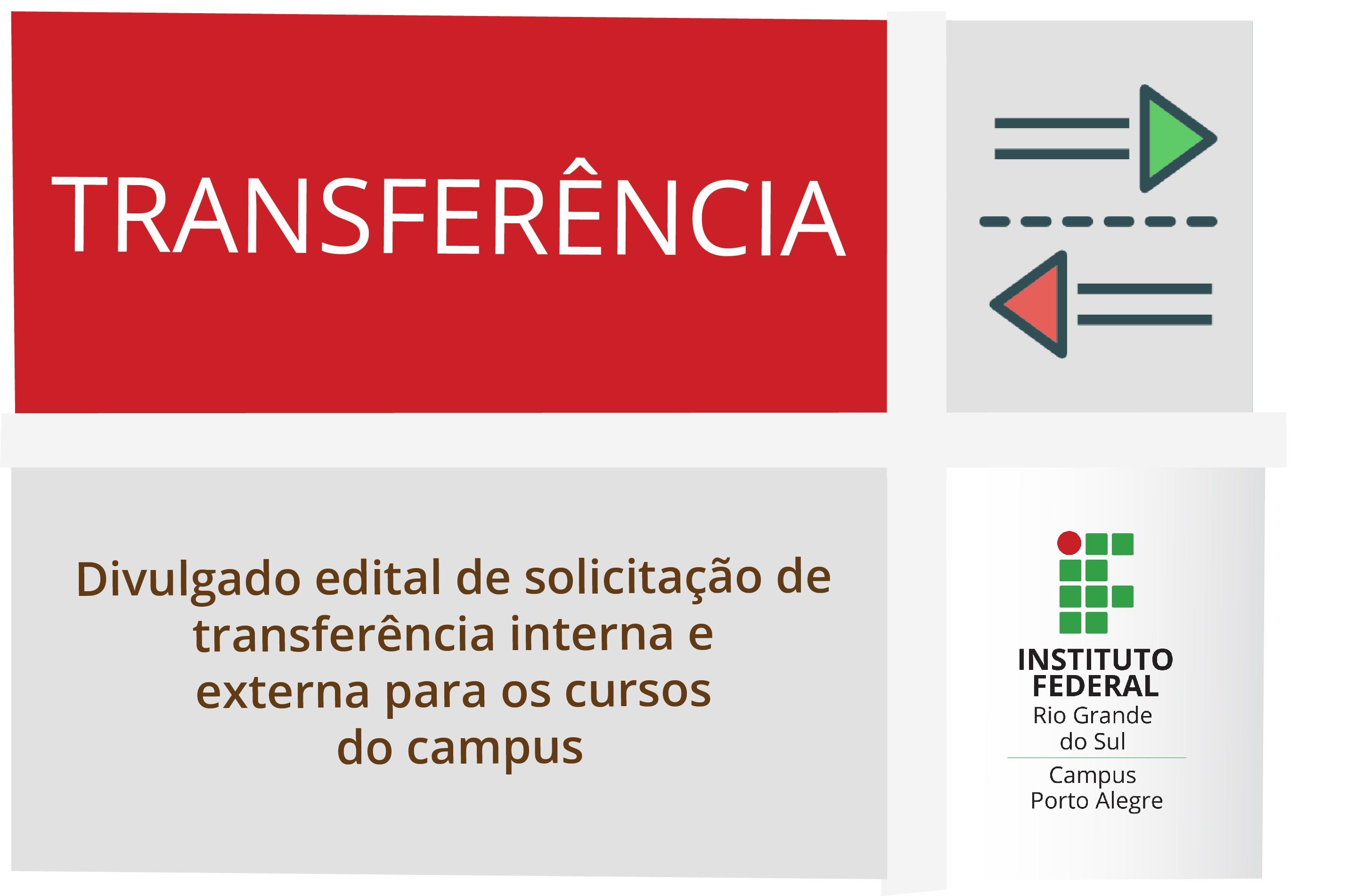 Edital nº 24 2019 Transferªncia interna e externa para os cursos do Campus Porto Alegre publicado o resultado final