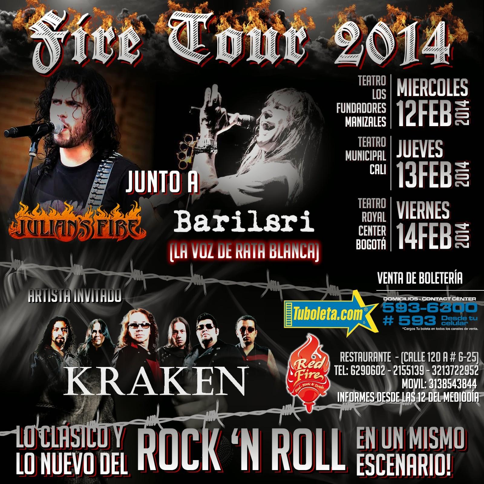 Enero 2014 éste Es El Afiche icial Del Fire Tour 2014 Se Advierte