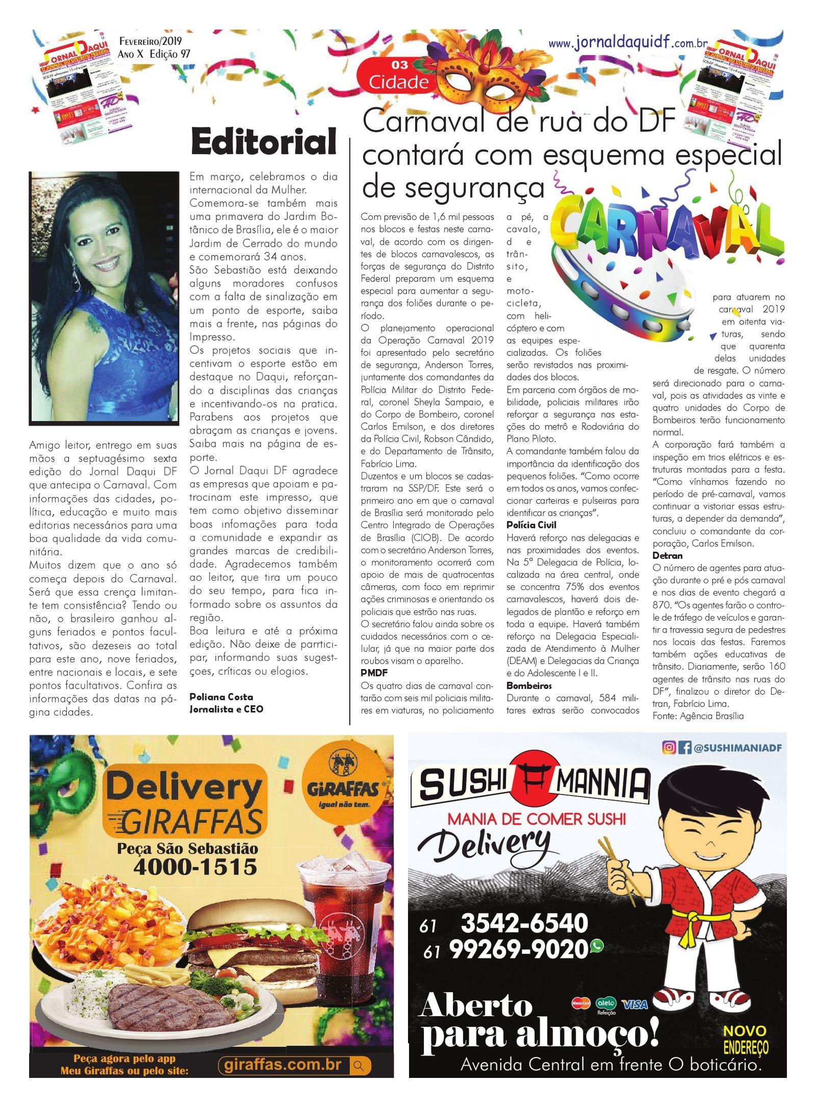 Calendario 2019 Com Feriados Brasileiro Actual Jornal Daqui Df Edi§£o Fevereiro De 2019