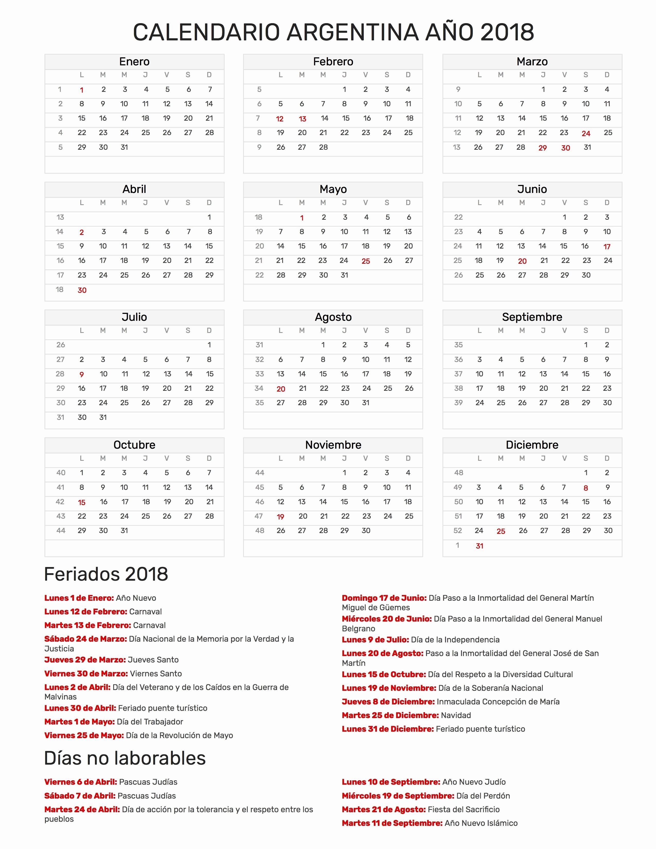 Calendario Con Semanas 2019 Chile.Prueba Calendario 2019 Con Semanas Y Festivos En Colombia