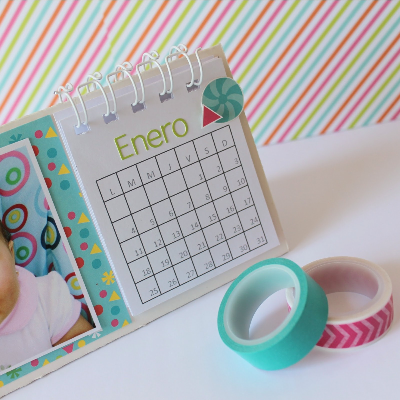 great tutorial calendario de escritorio para anita y su mundo caroli schulz scrapbook crafts with hacer calendarios
