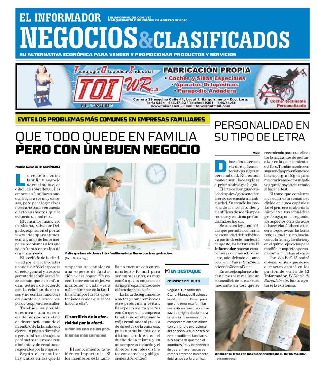 negocios y clasificados 2010 08 22 by El Informador Diario online