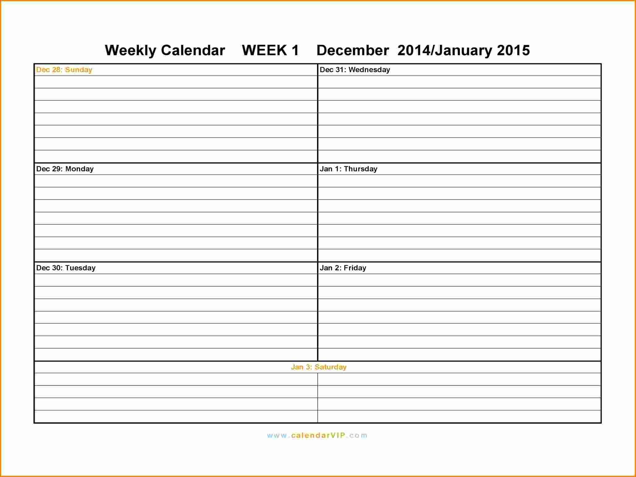 Calendar Template Weekly Weekly Calendar 2015 2 With Weekly Calendar October 2016