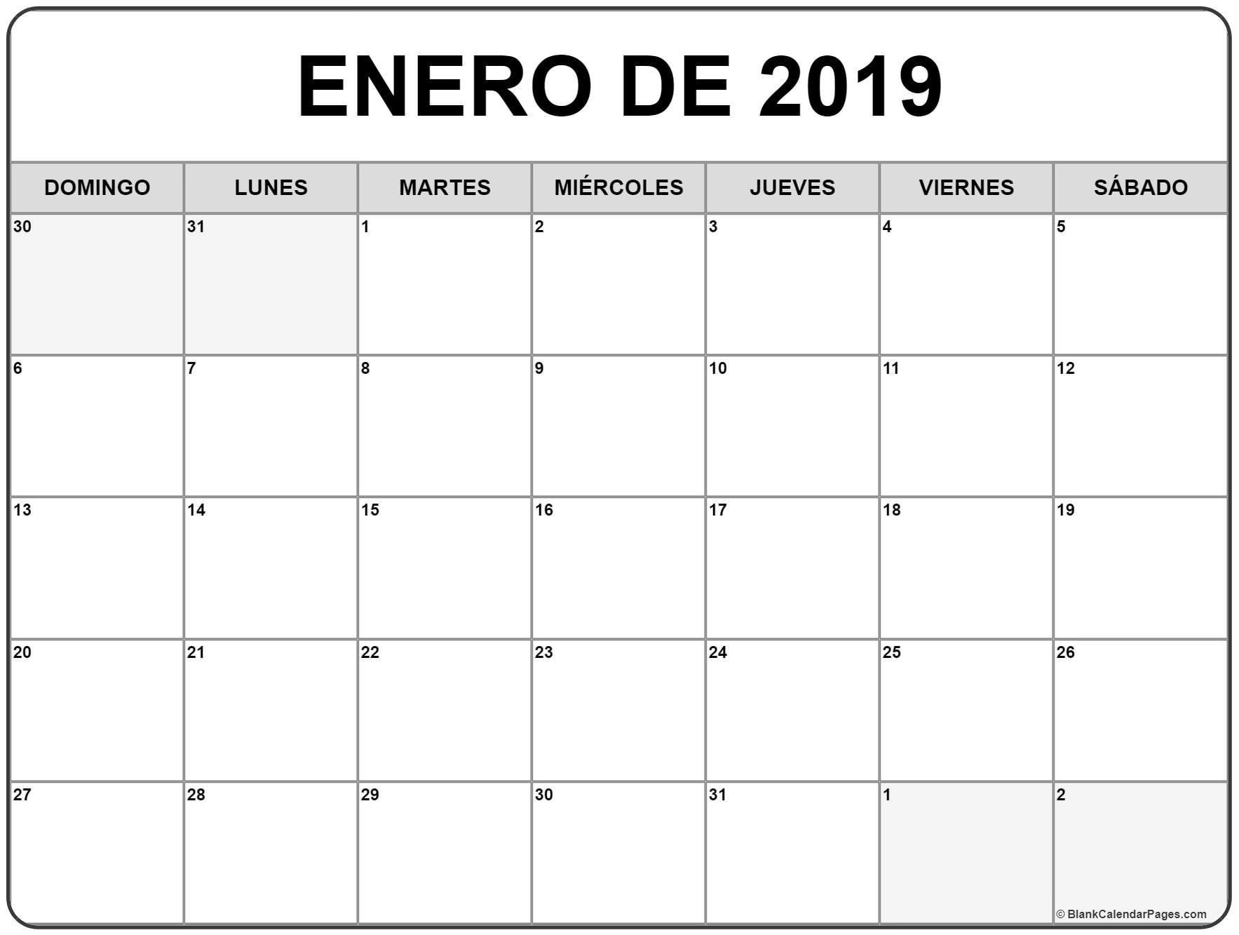 Calendario Enero – Frases e mensagens