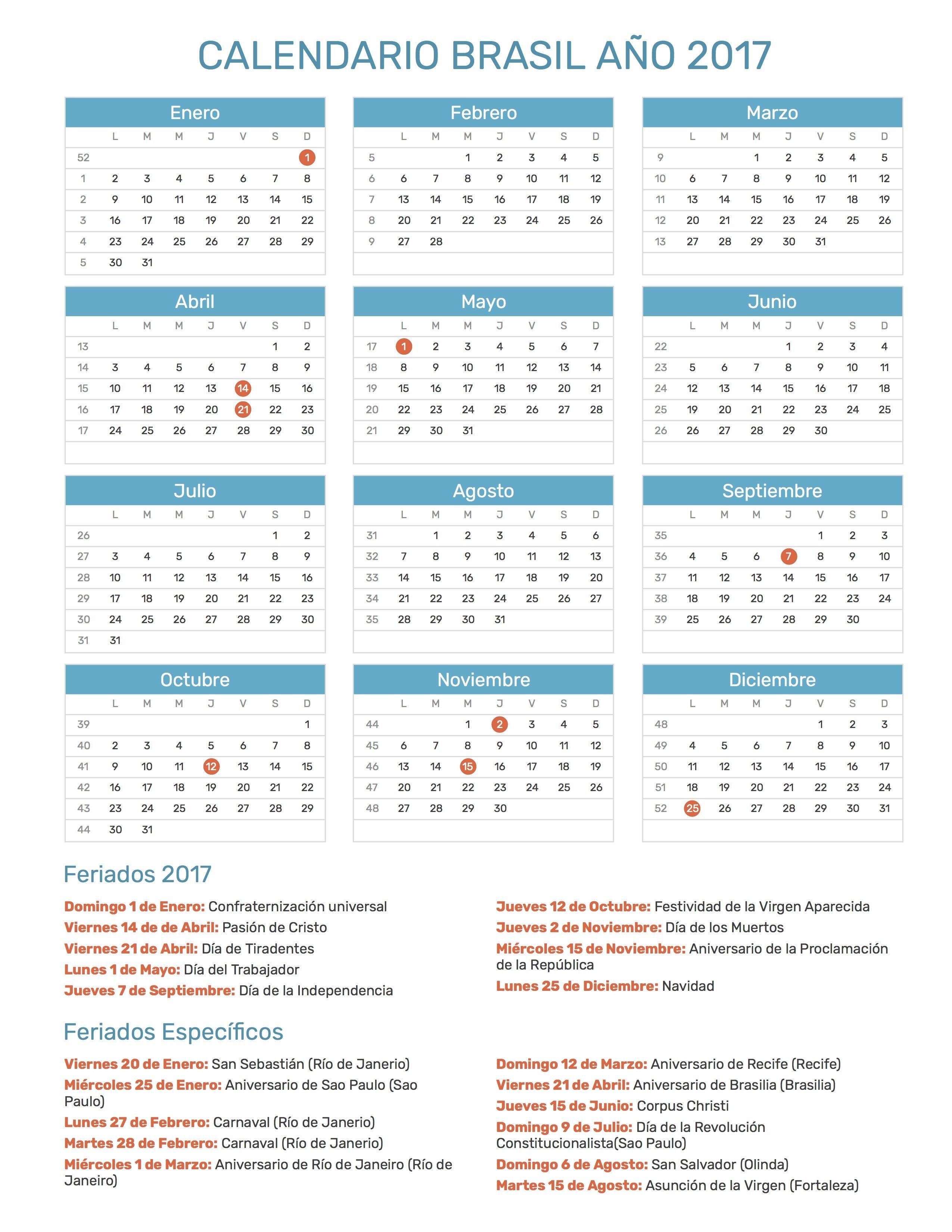 15 mejores imágenes de calendario de 2017