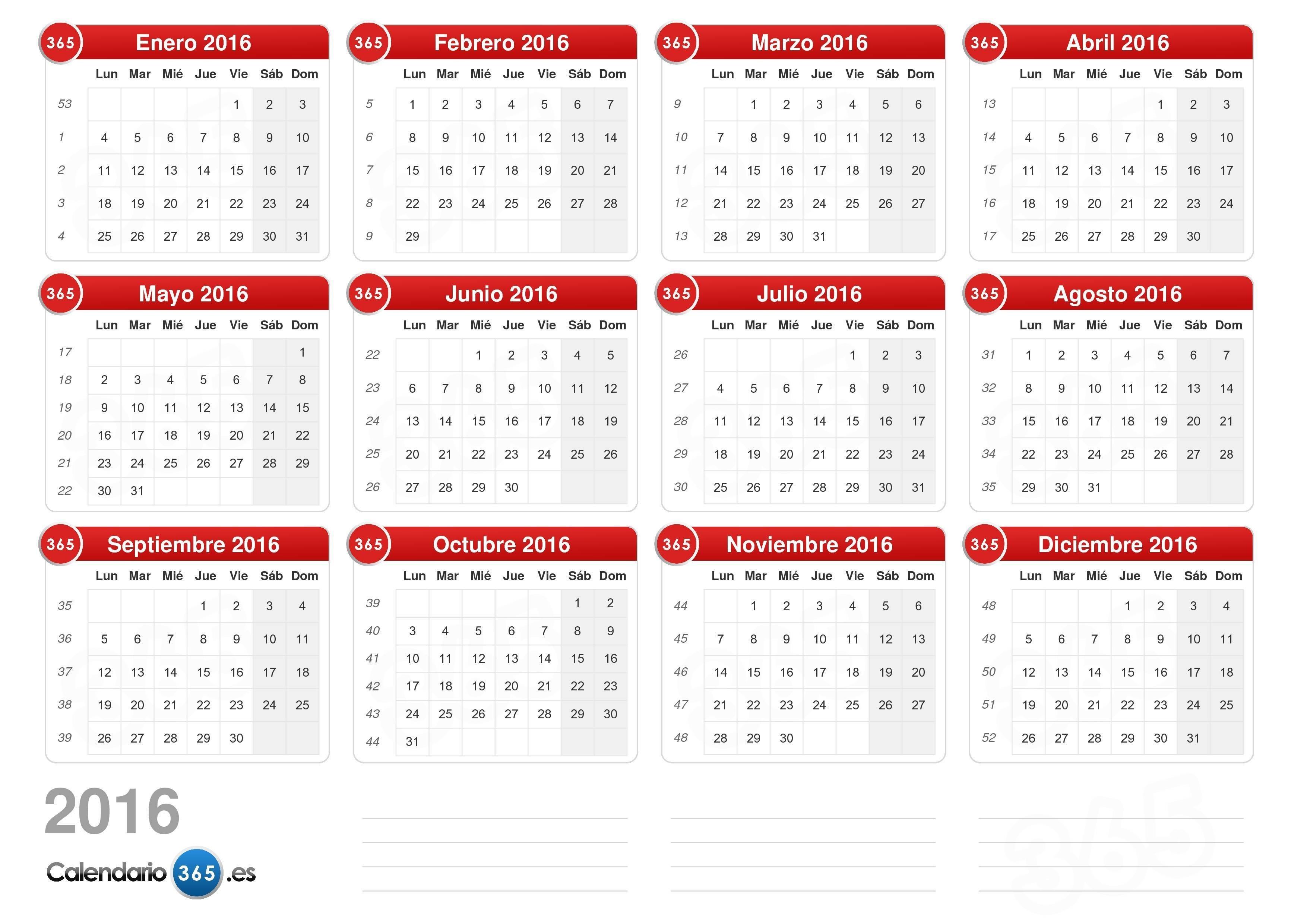 Calendario 2016 V2 0 10 Calendario Enero 2016 Para Imprimir