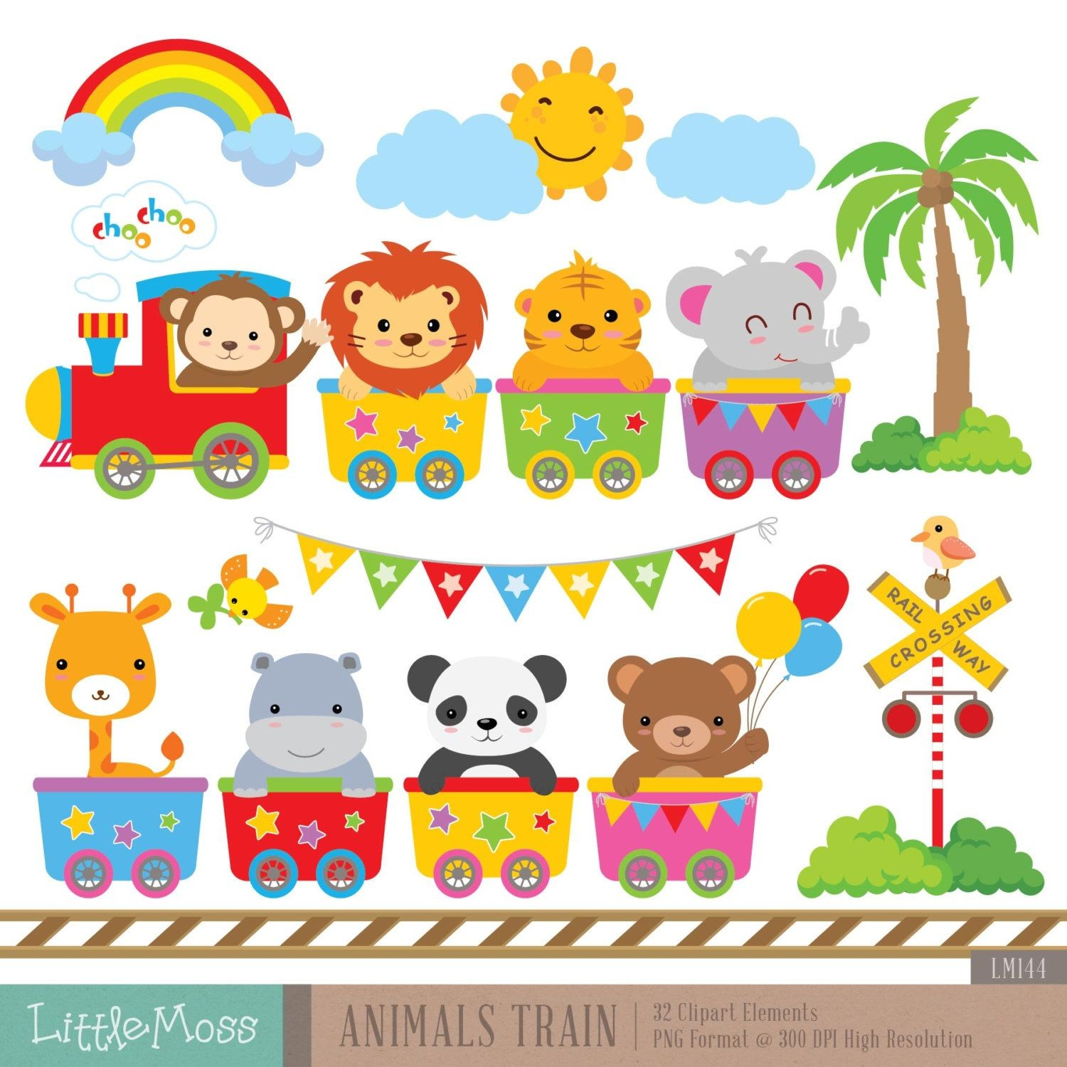 Calendario 2019 Para Imprimir Gratis Bonitos Companeros Más Recientes Wild Animals Train Digital Clipart Educaci³n