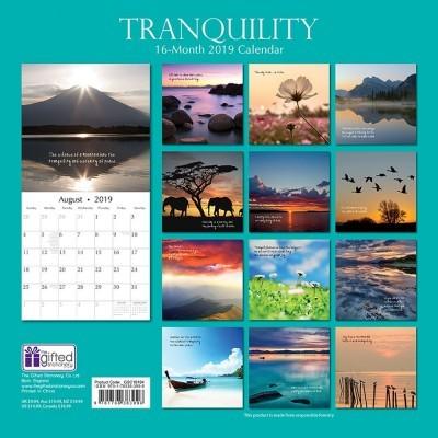 calendar tranquility 2019