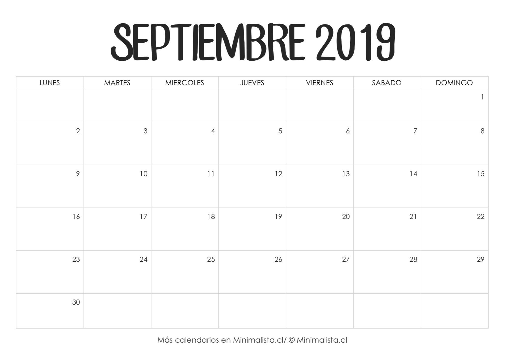 Noticias Calendario 2019 Mes De Abril