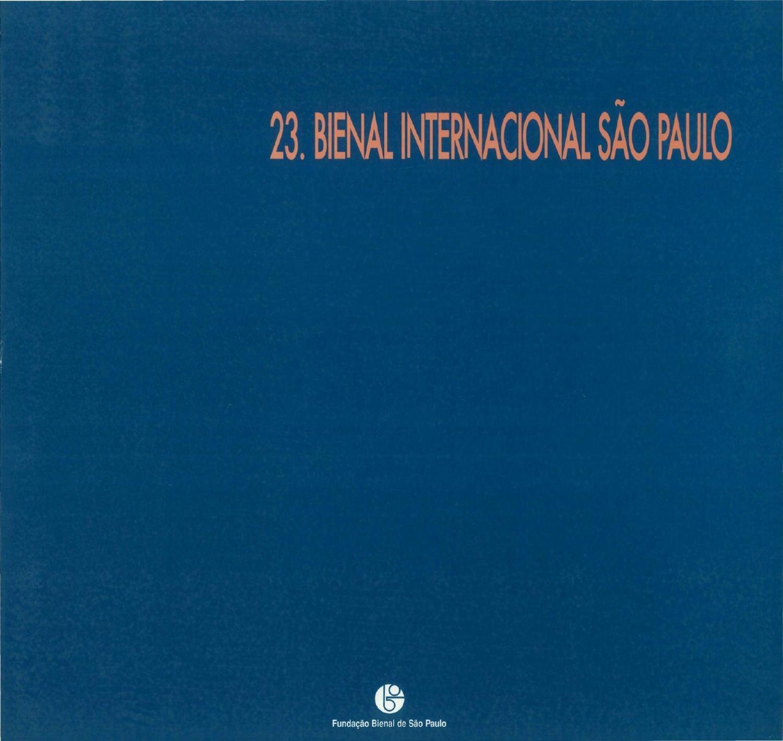 23ª Bienal de S£o Paulo 1996 Catálogo Catalogue by Bienal S£o