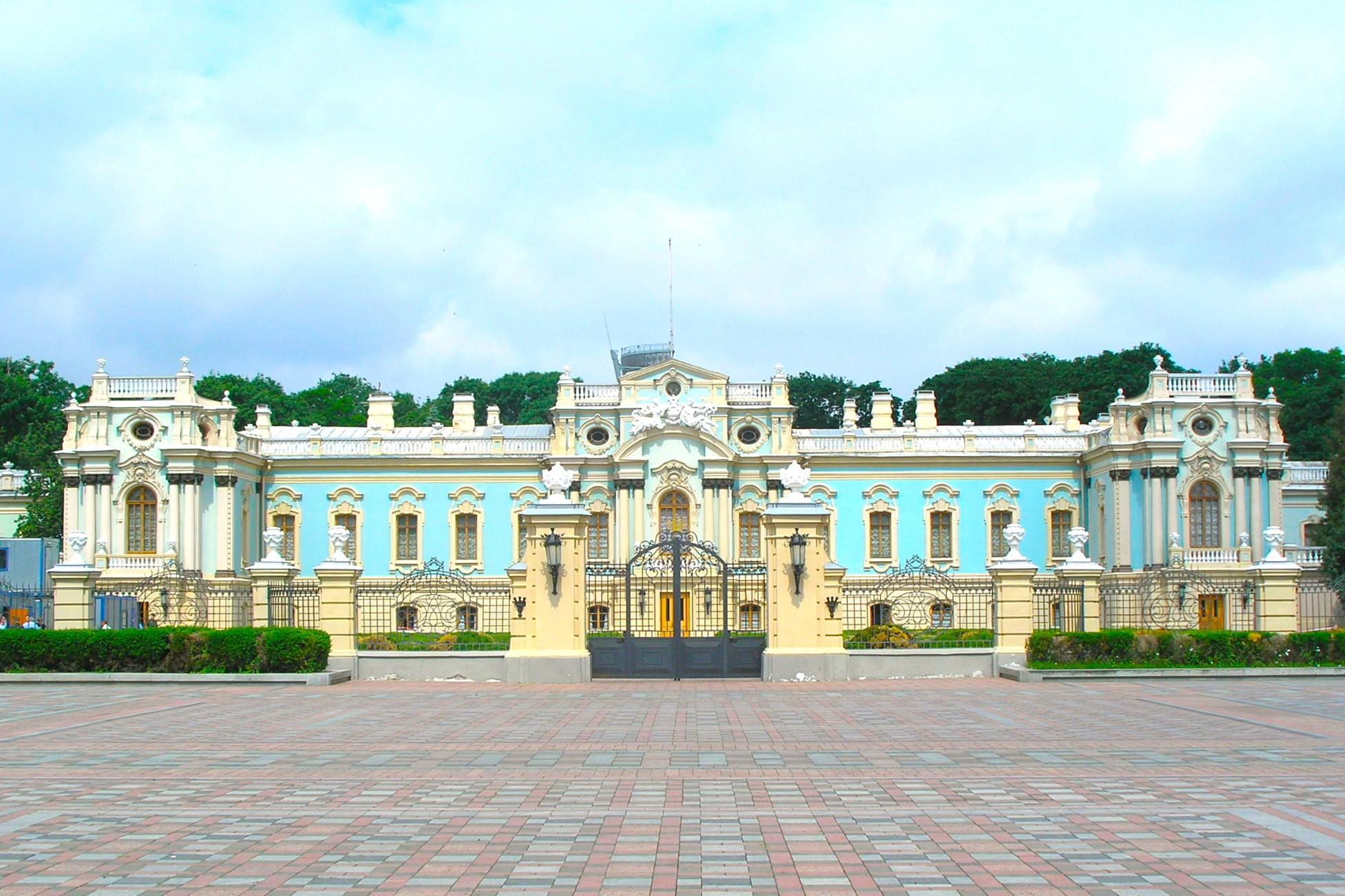 Maryinsky Palace residence of the Ukrainian President