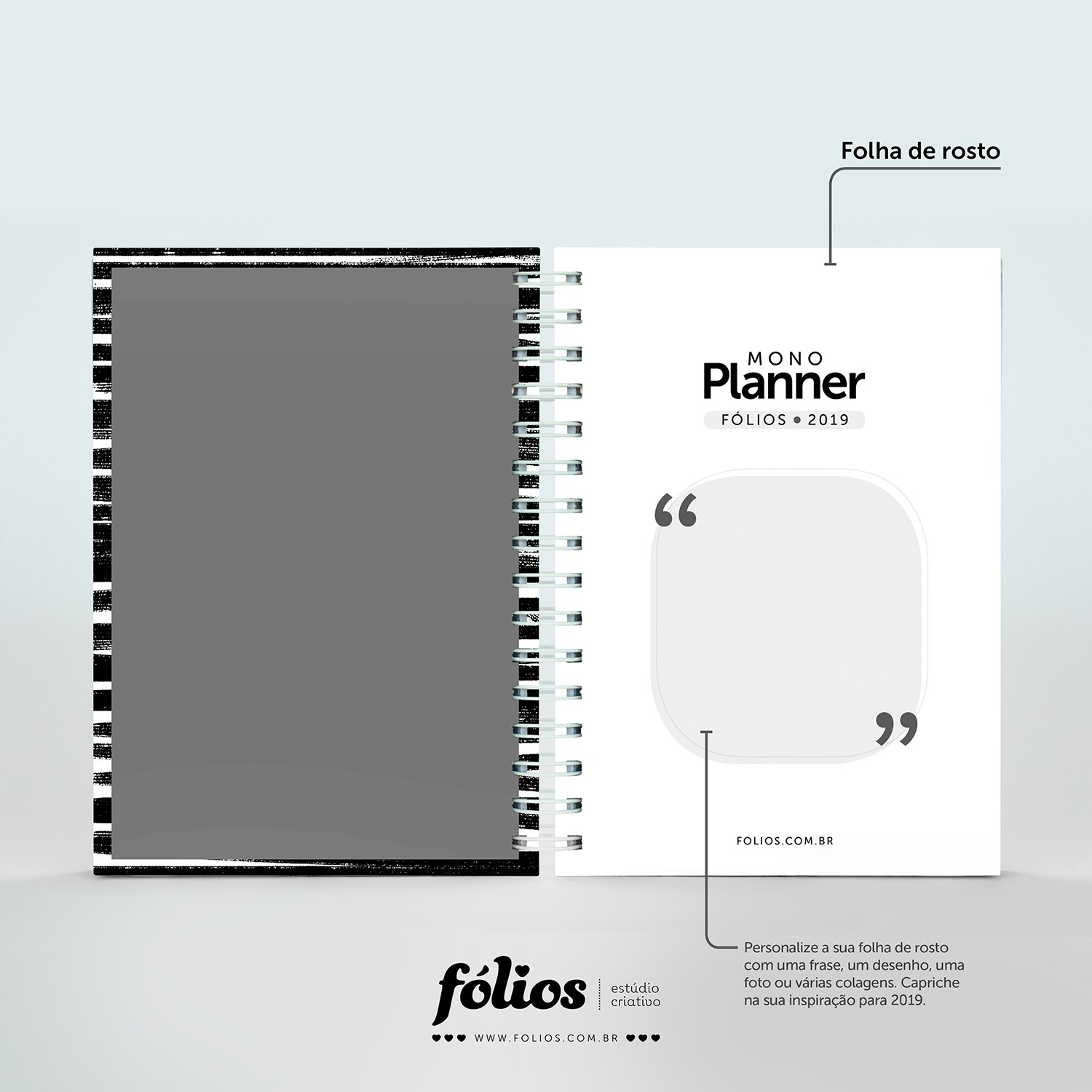 A Black And White 2019 Planner Download MONO Planner 2019 monocromático