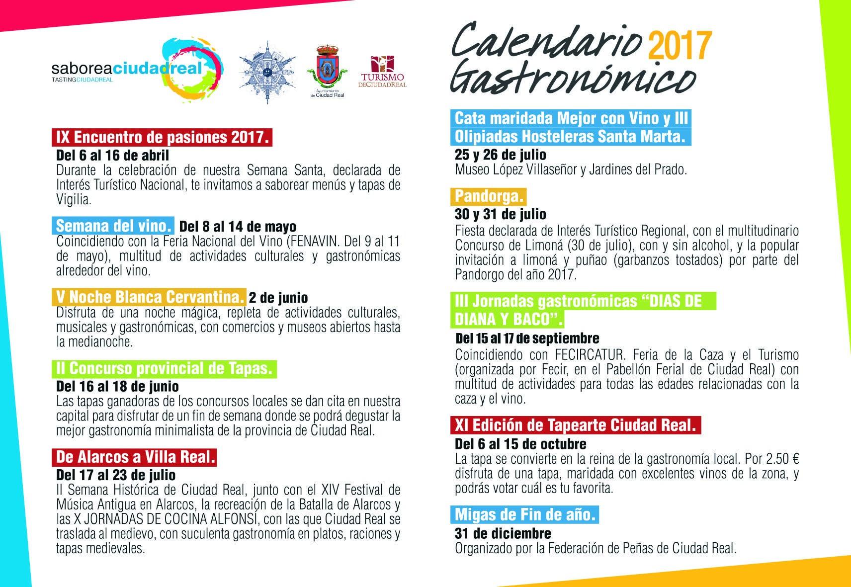 Calendario Gastronƒ³mico 2017