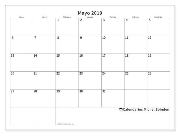 calendario mayo 2019 53ld