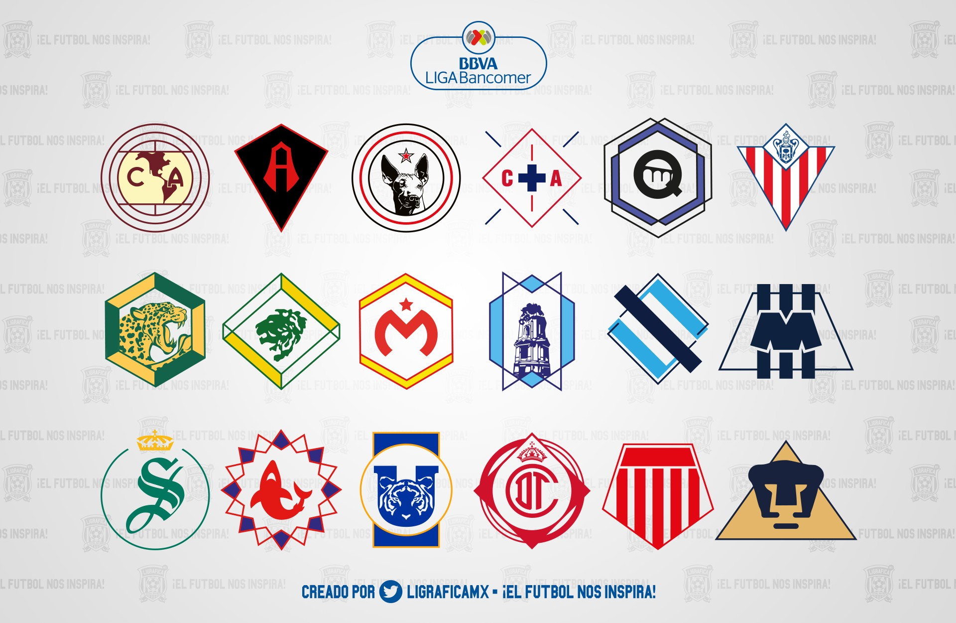 Logos LigaMX AP16 • LigaBan erMX LigraficaMX