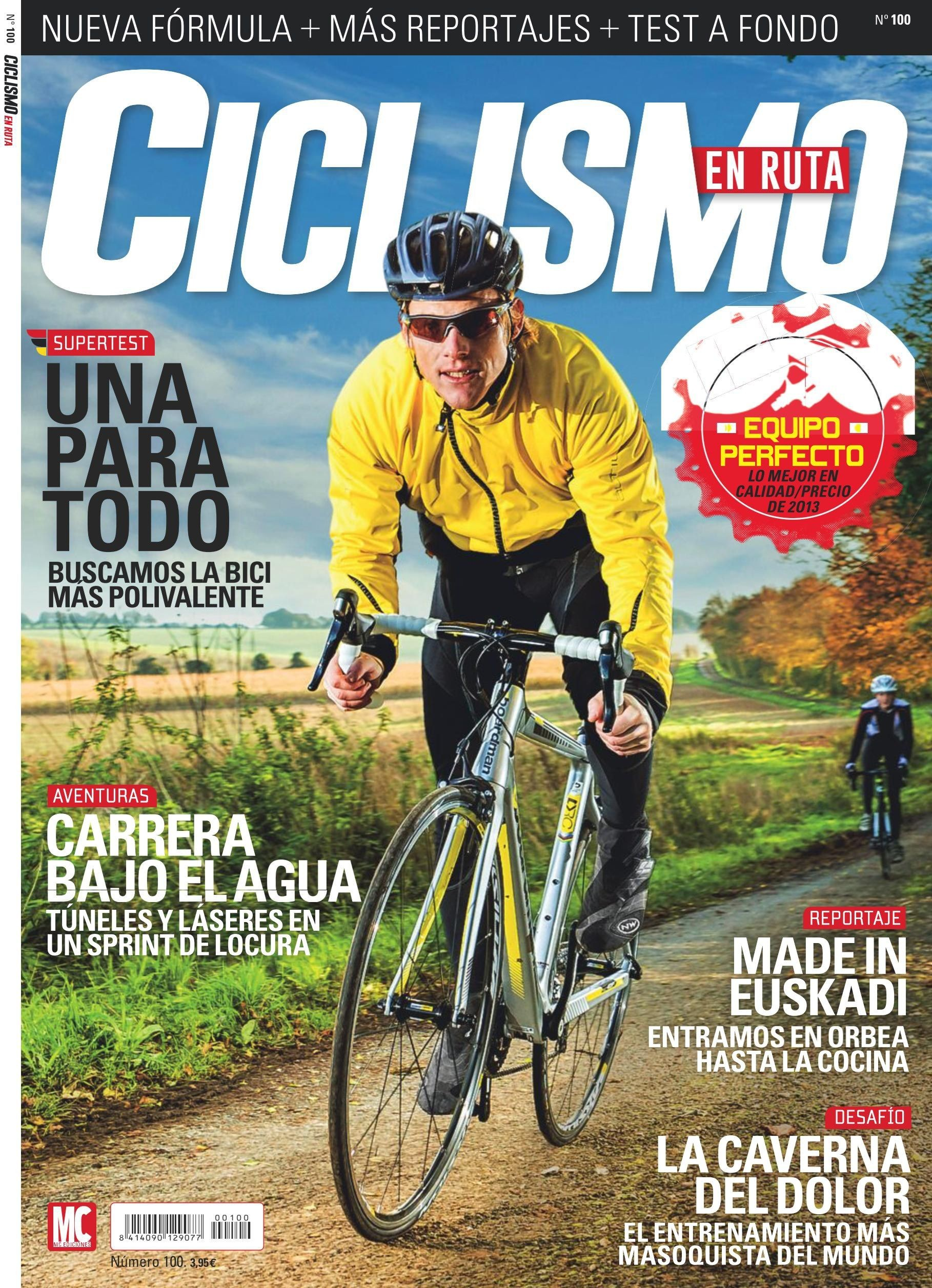Revista CICLISMO EN RUTA 100 Portada diciembre 2013 Carrera bajo el agua Made