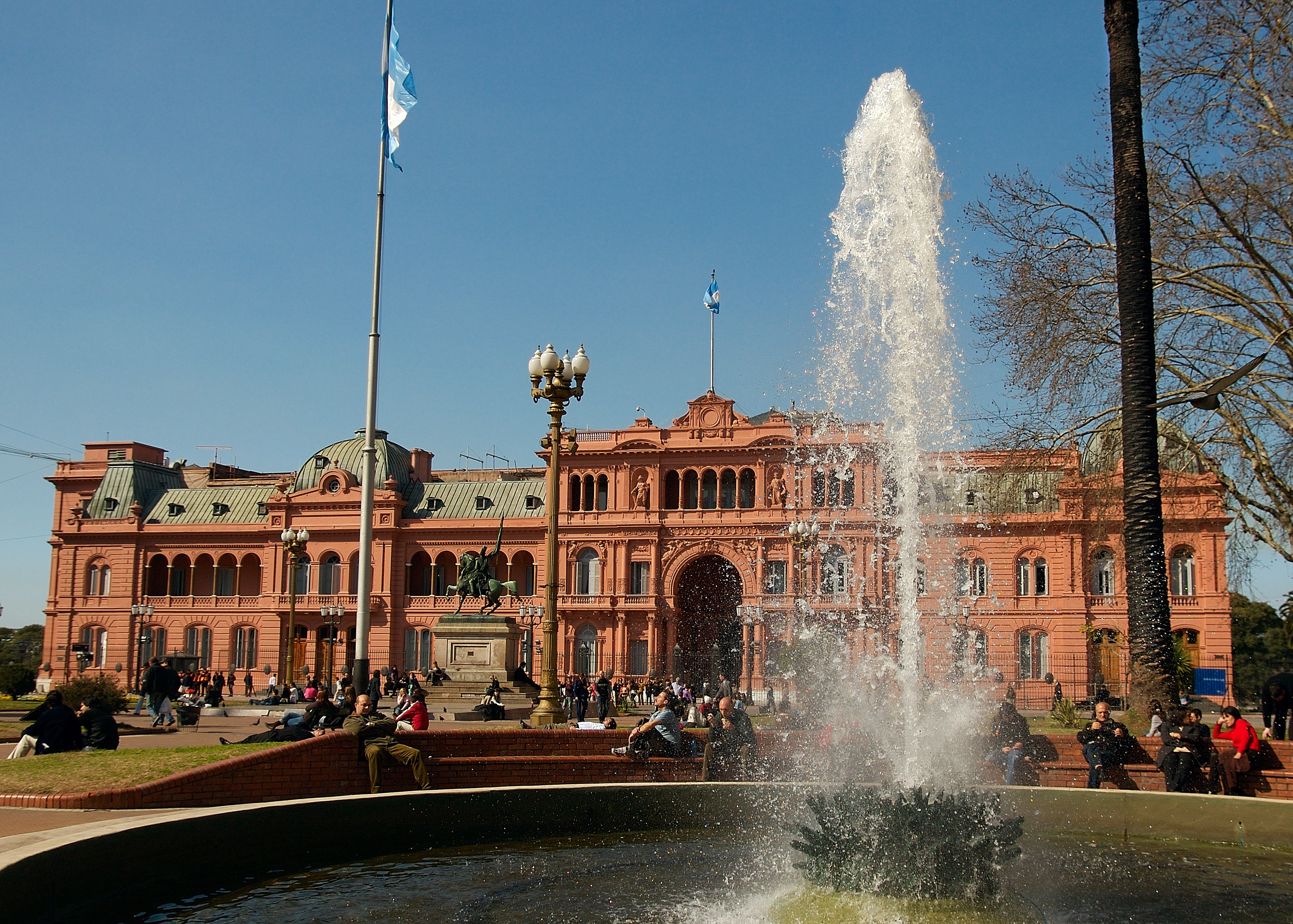The Pink House viewed from Plaza de Mayo