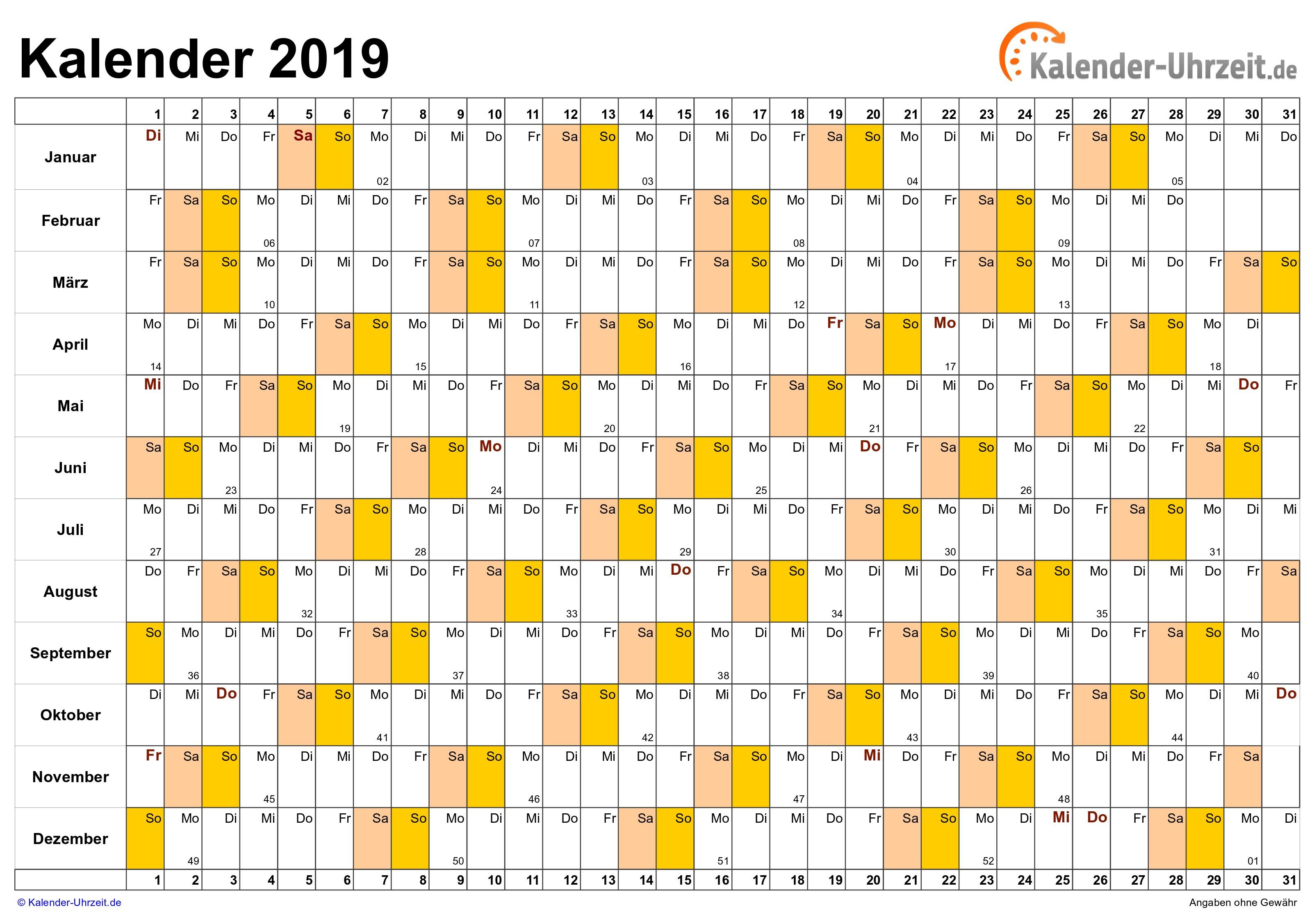 Kalender 2019 Pdf Schönherr Recientes Kalender 2019 Zum Ausdrucken Kostenlos