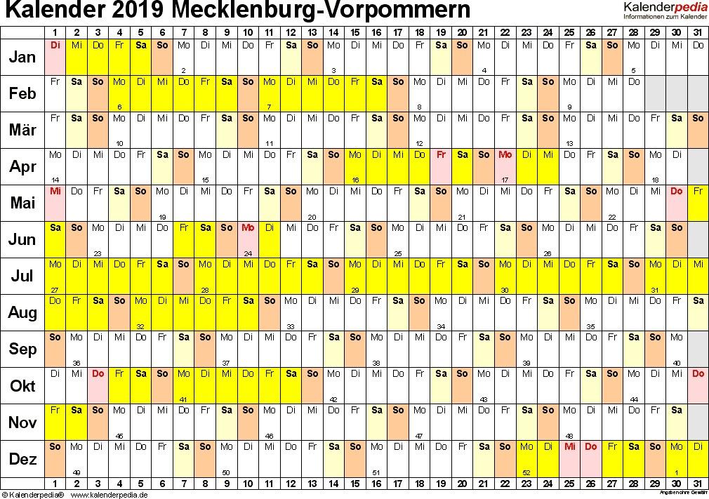 kalender mecklenburg vorpommern 2019