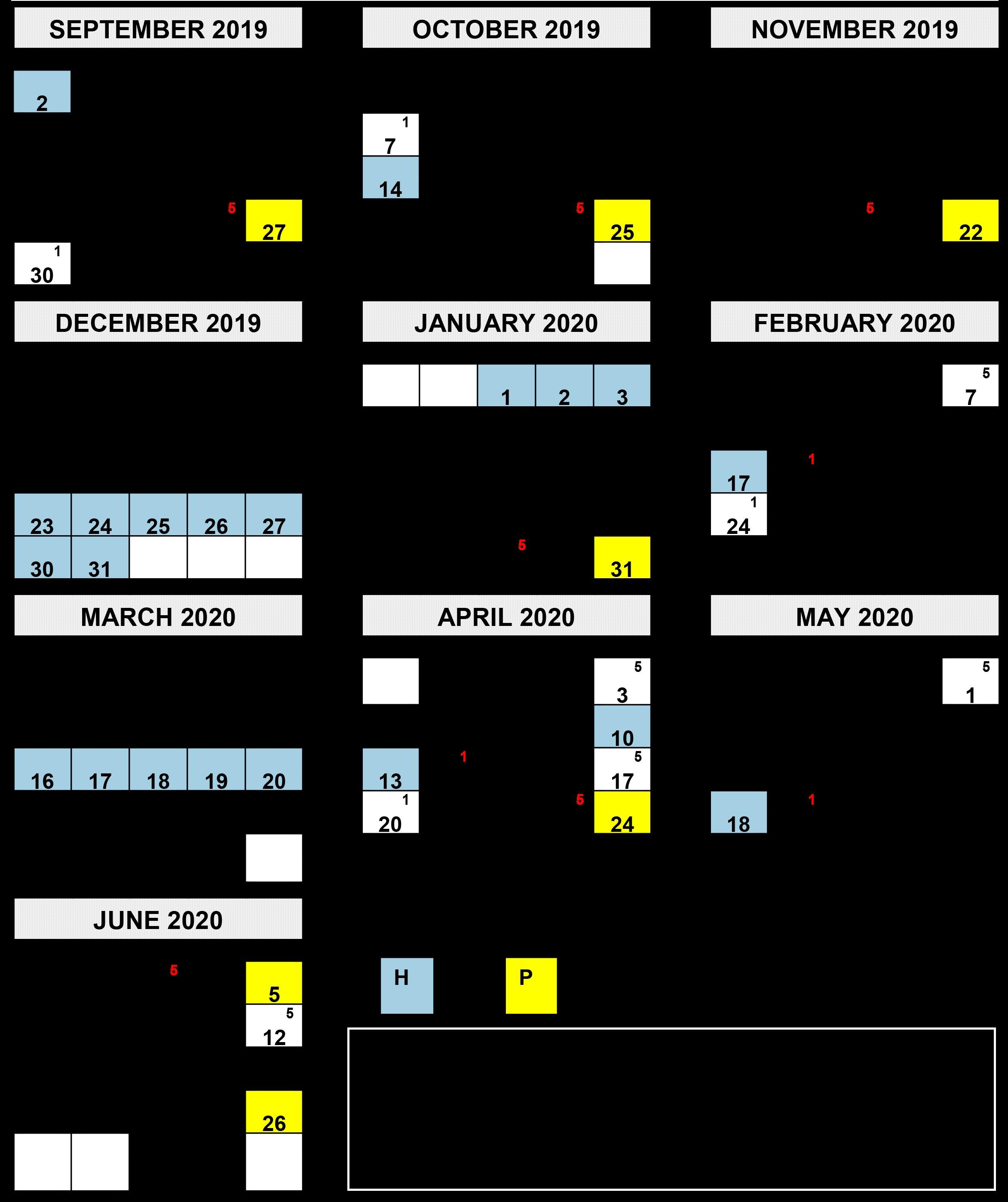 2018 2019 School Year Calendars