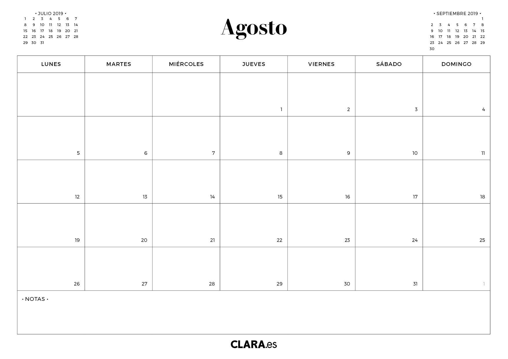calendario agosto 2019 para imprimir gratis 5d62edae