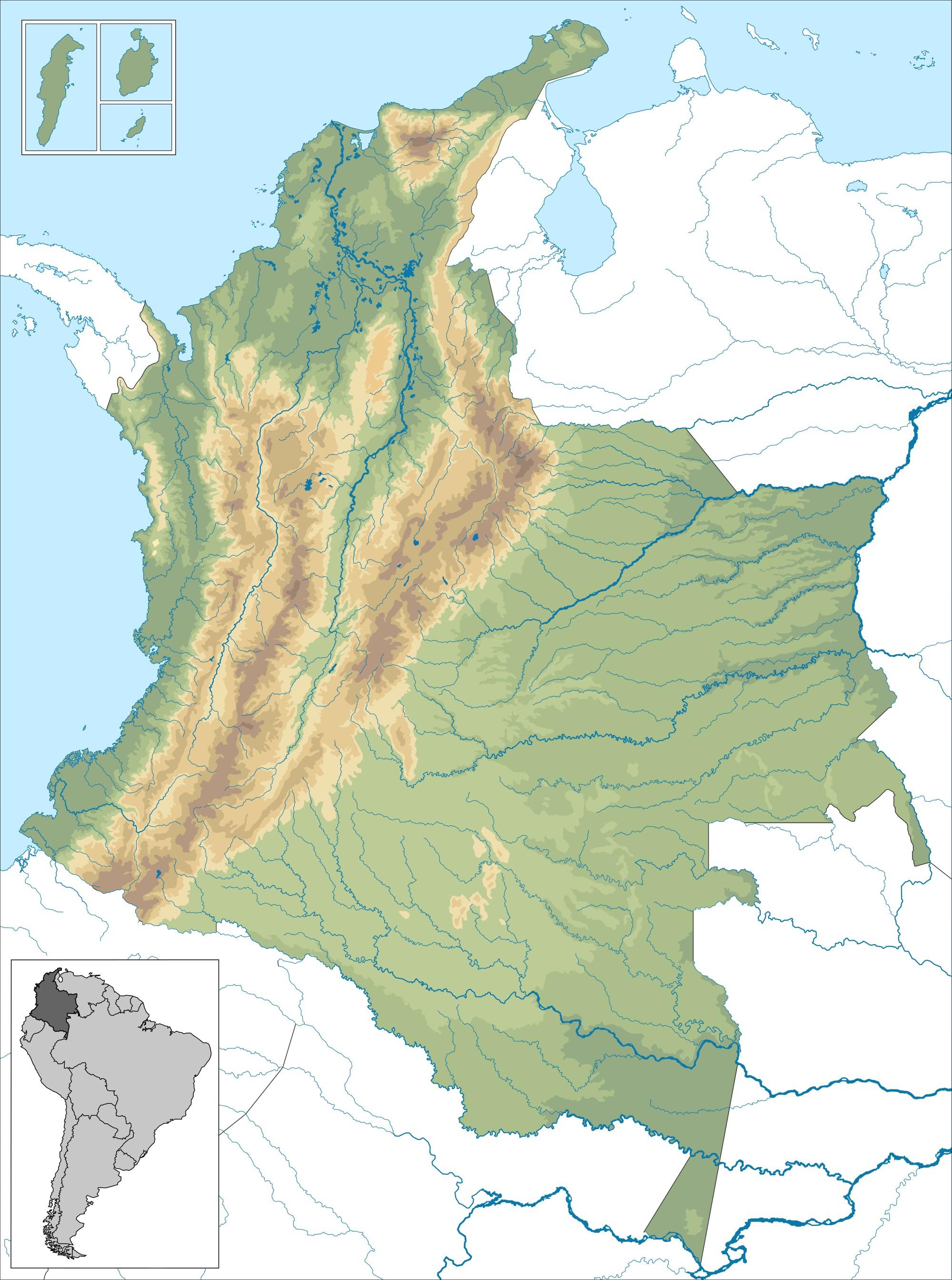 2000px Mapa de Colombia orografa g