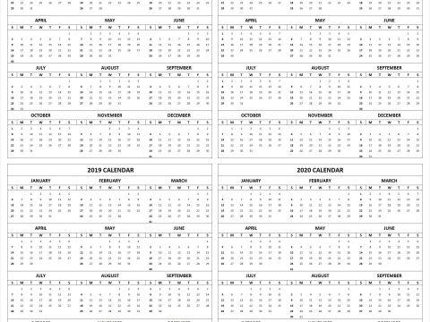 Calendario 2019 A 2020 Mejores Y Más Novedosos Adobe Indesign Calendar Template 2020
