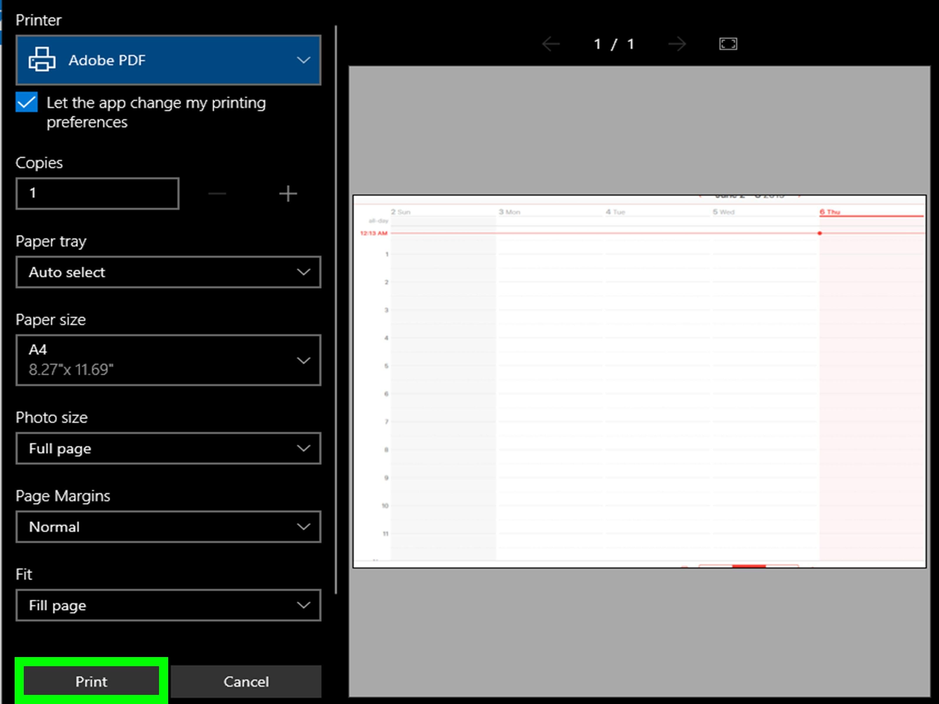 C³mo imprimir un calendario de iPad 18 pasos