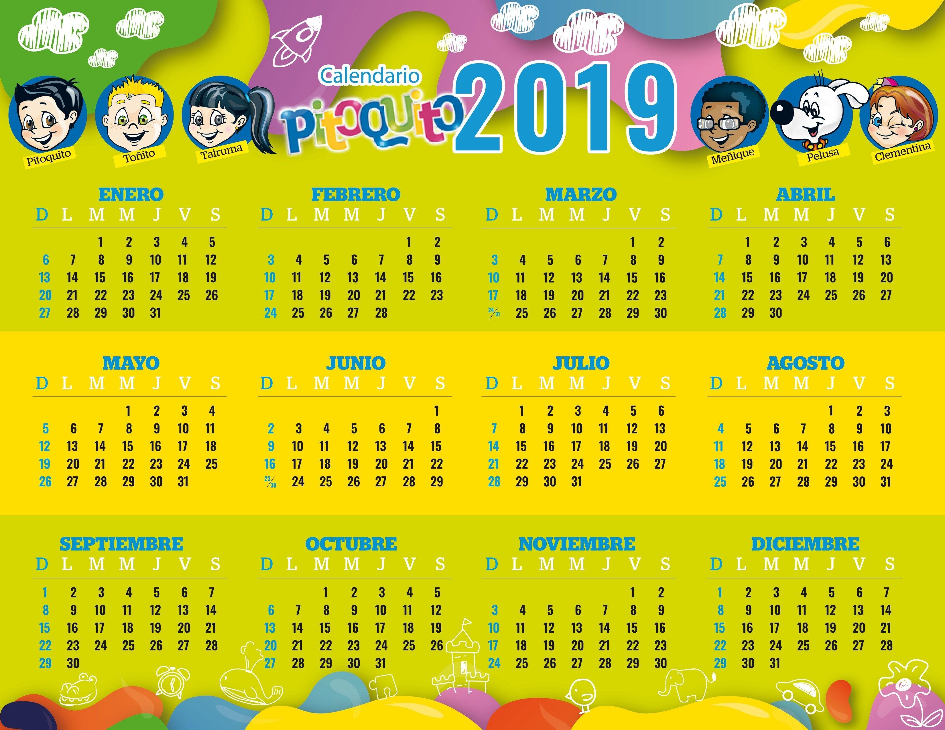 Calendario 2019 Ninos