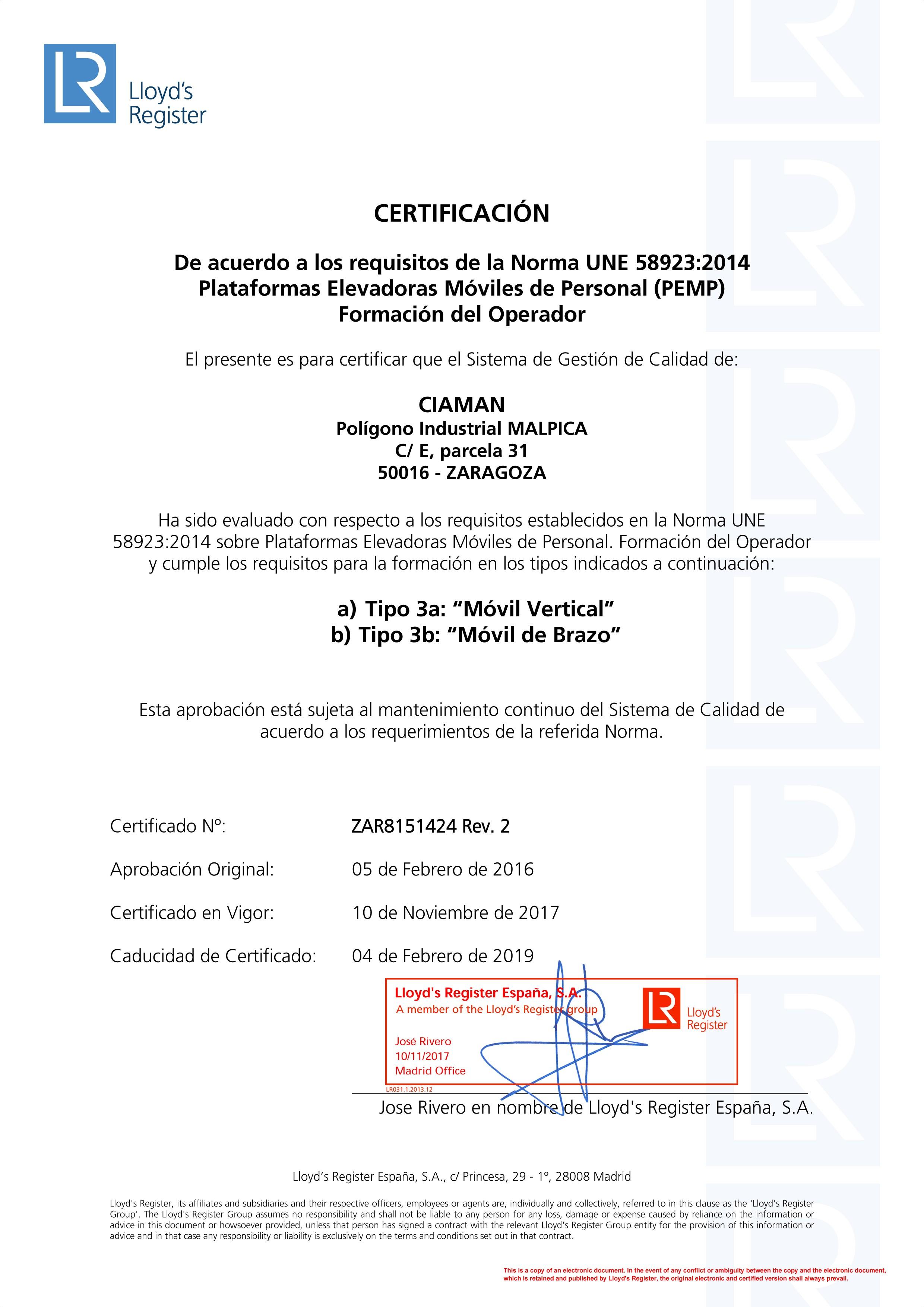 Calendario Laboral 2019 Malaga Más Recientes Magnfico Certificado Para El Operador De La Carretilla Of Calendario Laboral 2019 Malaga Actual Unicaci³n – Medena