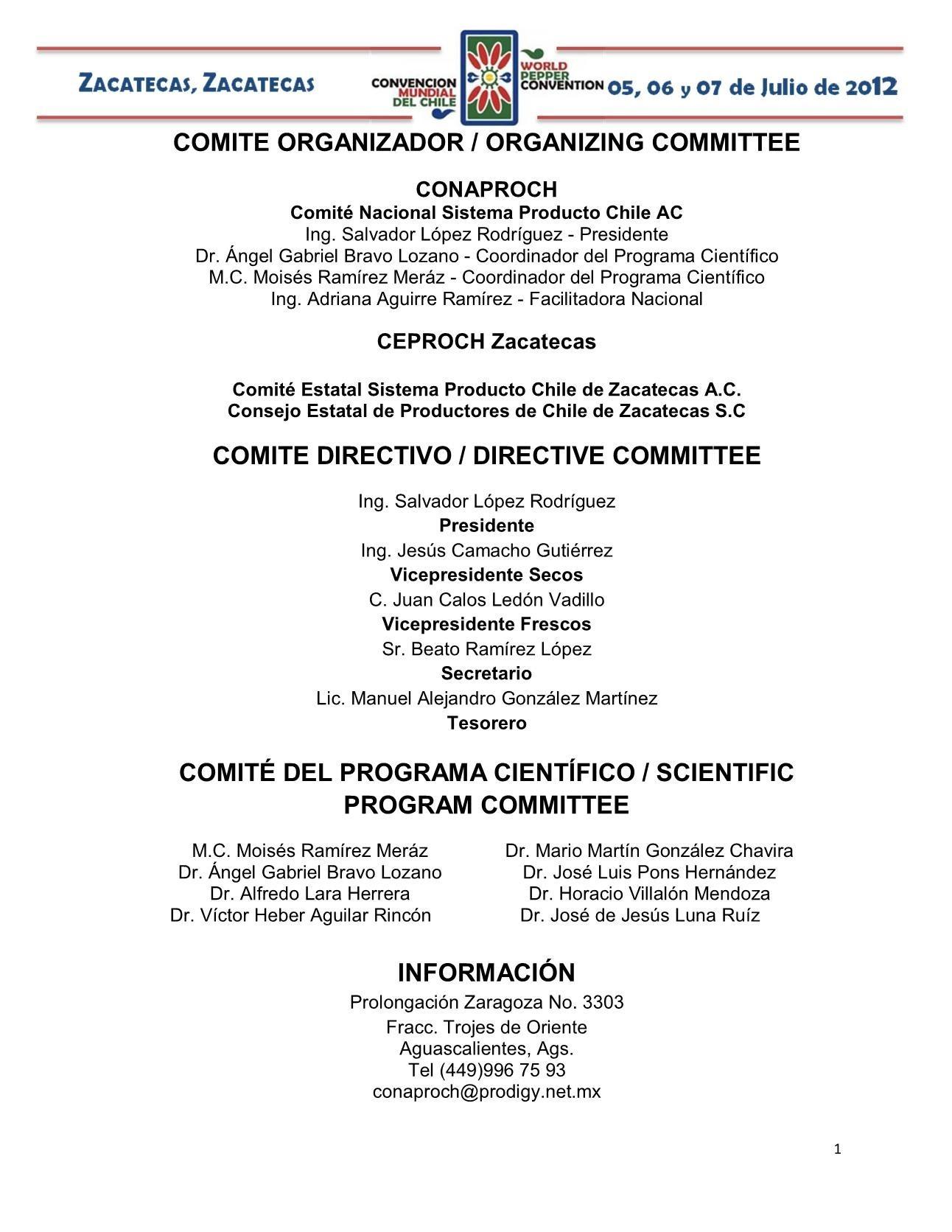 """Calendario Lunar Germinacion Más Caliente 9na Convenci³n Mundial Del Chile Zacatecas Pages 1 50 Of Calendario Lunar Germinacion Mejores Y Más Novedosos Universidad Nacional Aut""""noma De México Kipdf"""