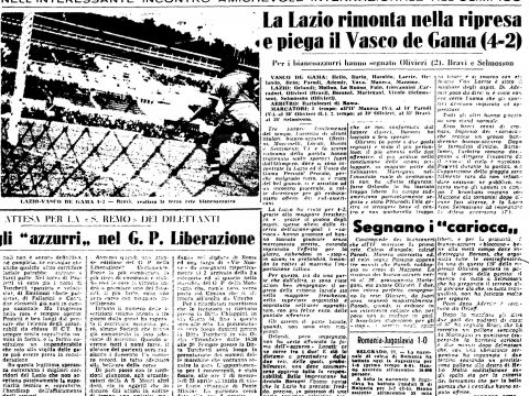 Calendario P 2019 Más Arriba-a-fecha Domenica 22 Aprile 1956 Roma Stadio Olimpico Lazio