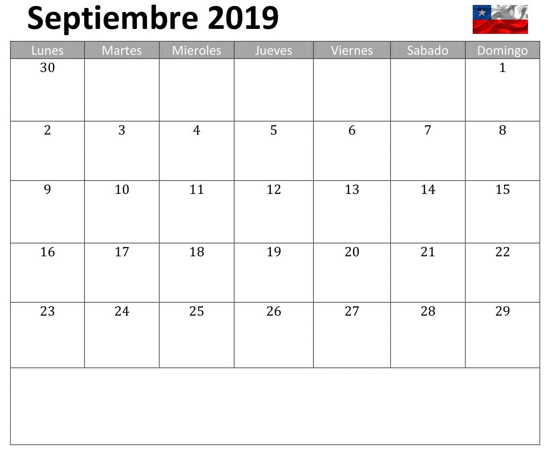 Calendario S.e.p. 2019 Más Arriba-a-fecha Calendario Septiembre 2019 Chile Of Calendario S.e.p. 2019 Recientes Wall Calendar 2019 2019calendar Printablecalendar