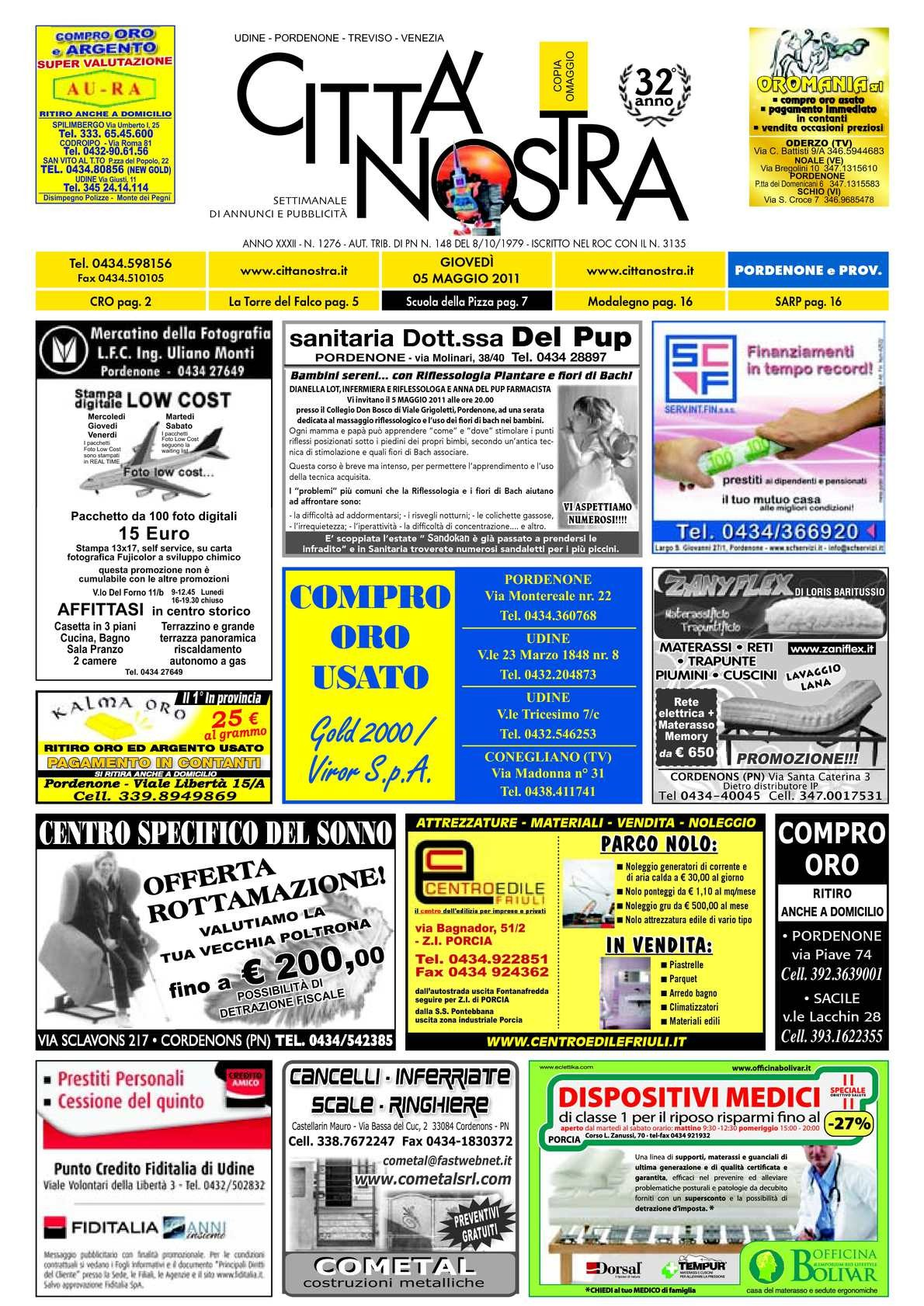 Calaméo Citt Nostra Pordenone del 05 05 2011 n 1276