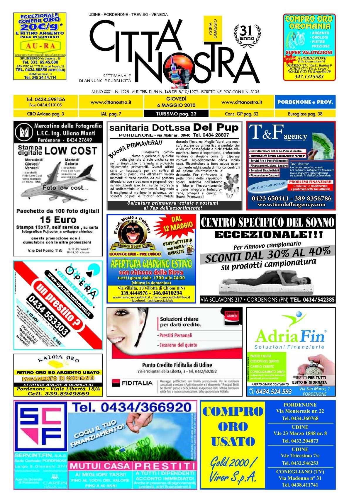 Quadro Calendario Anual Más Populares Calaméo Citt Nostra Pordenone Del 06 05 2010 N 1228 Of Quadro Calendario Anual Actual Calaméo Citt Nostra Pordenone Del 05 05 2011 N 1276