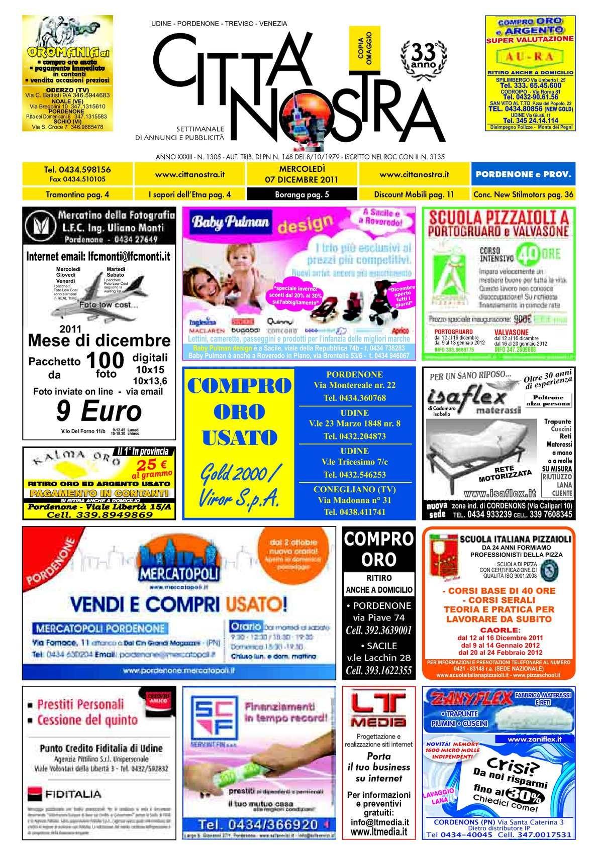 Quadro Calendario Anual Más Recientes Calaméo Citt Nostra Pordenone Del 07 12 2011 N 1305 Of Quadro Calendario Anual Actual Calaméo Citt Nostra Pordenone Del 05 05 2011 N 1276