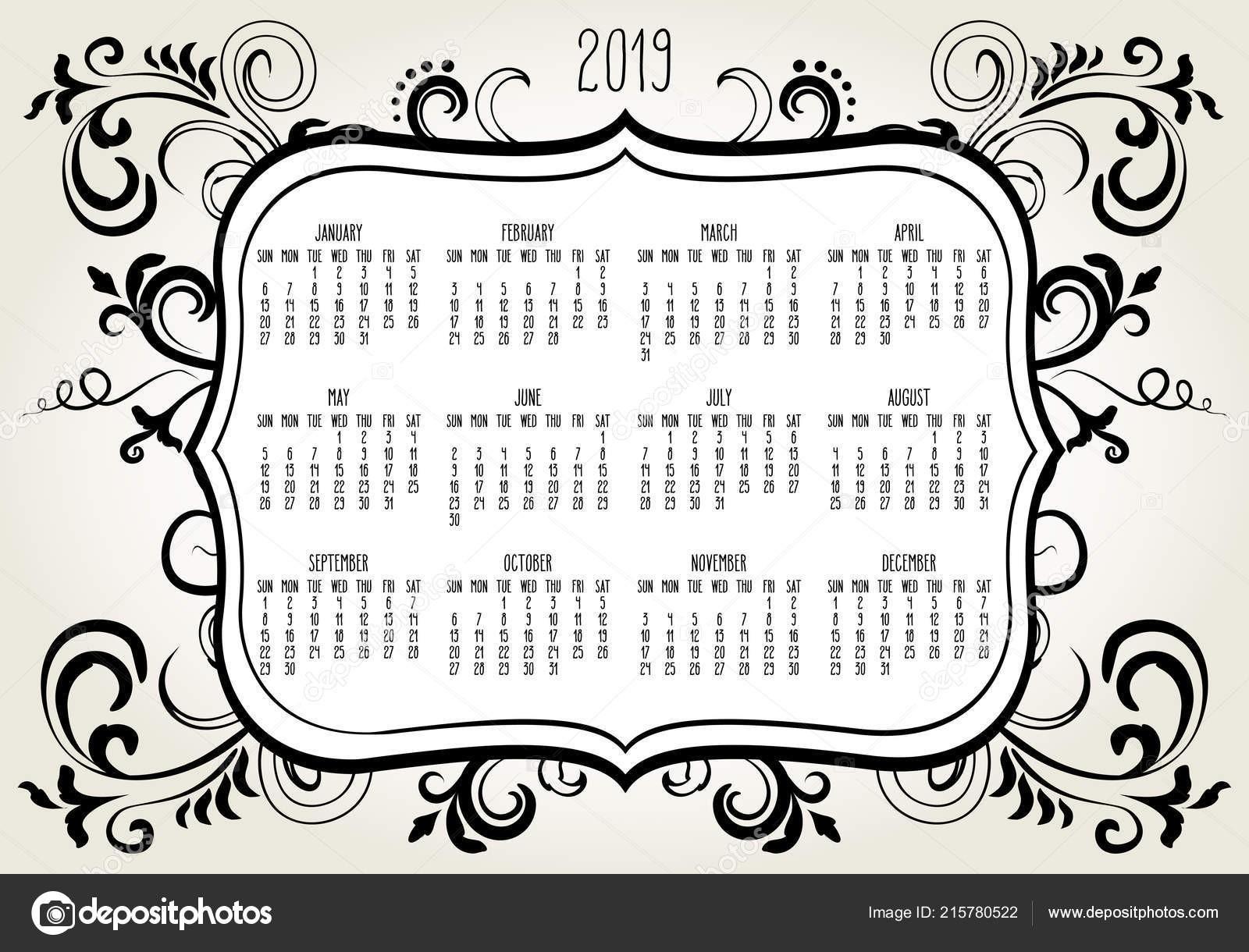 depositphotos stock illustration year 2019 plain contemporary vector