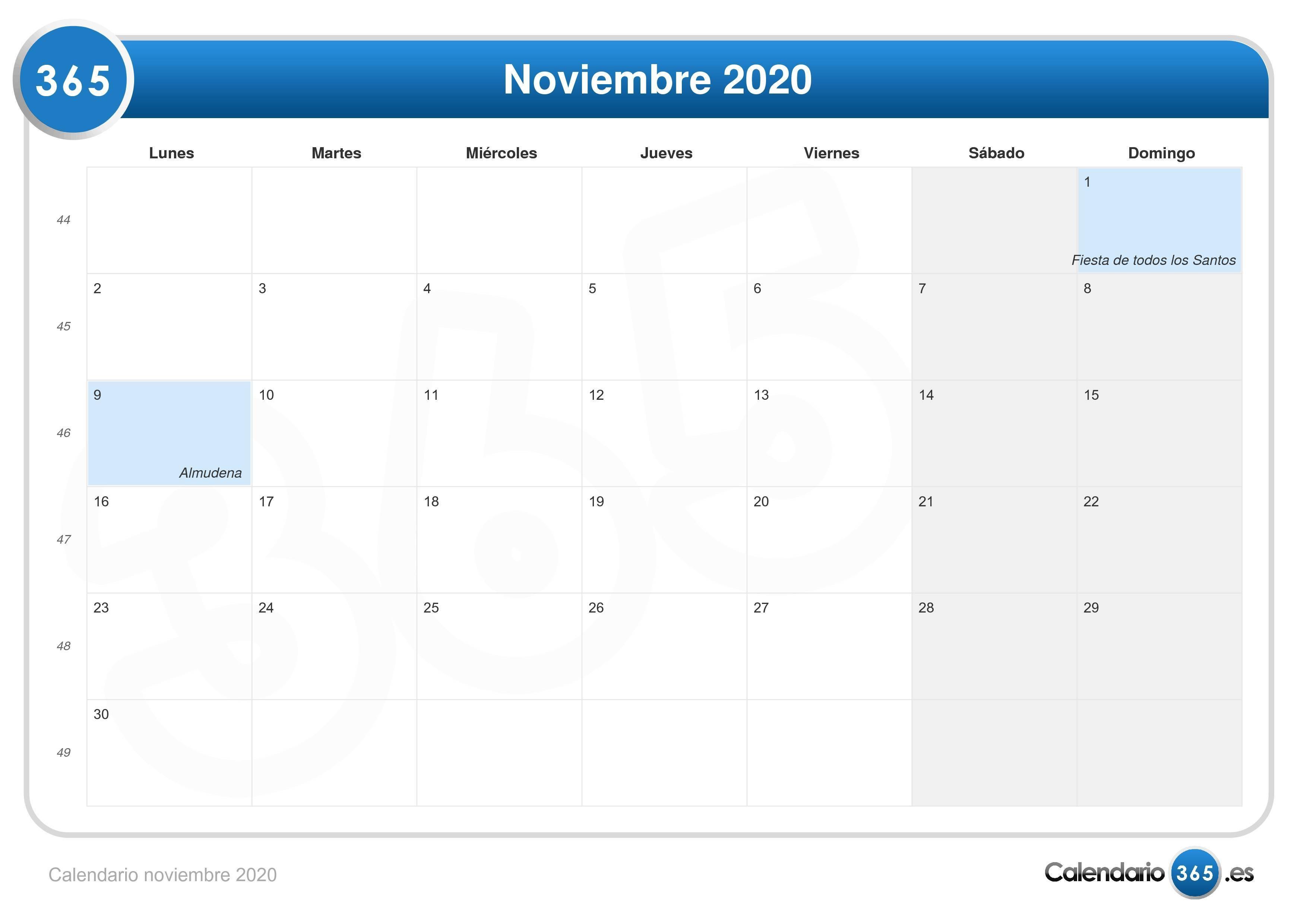 Agenda Calendario Semanal Para Imprimir Más Populares Noviembre Calendario 2020