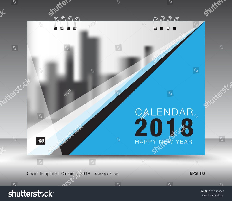 stock vector cover calendar template blue cover layout business brochure flyer design advertisement