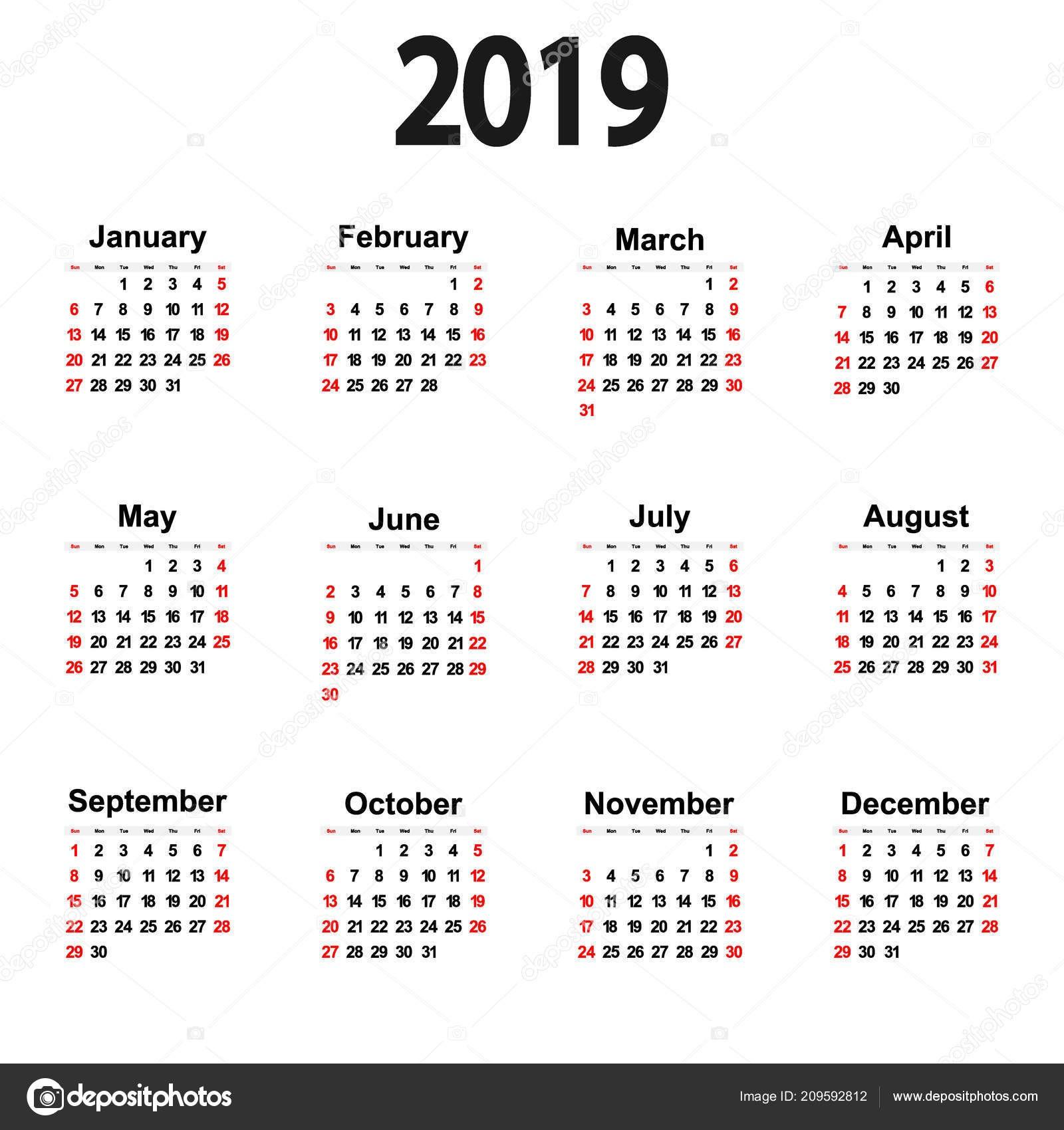 Calendário 2019 Com Feriados Nacionais E Estaduais Para Imprimir Más Caliente Calendario Grande