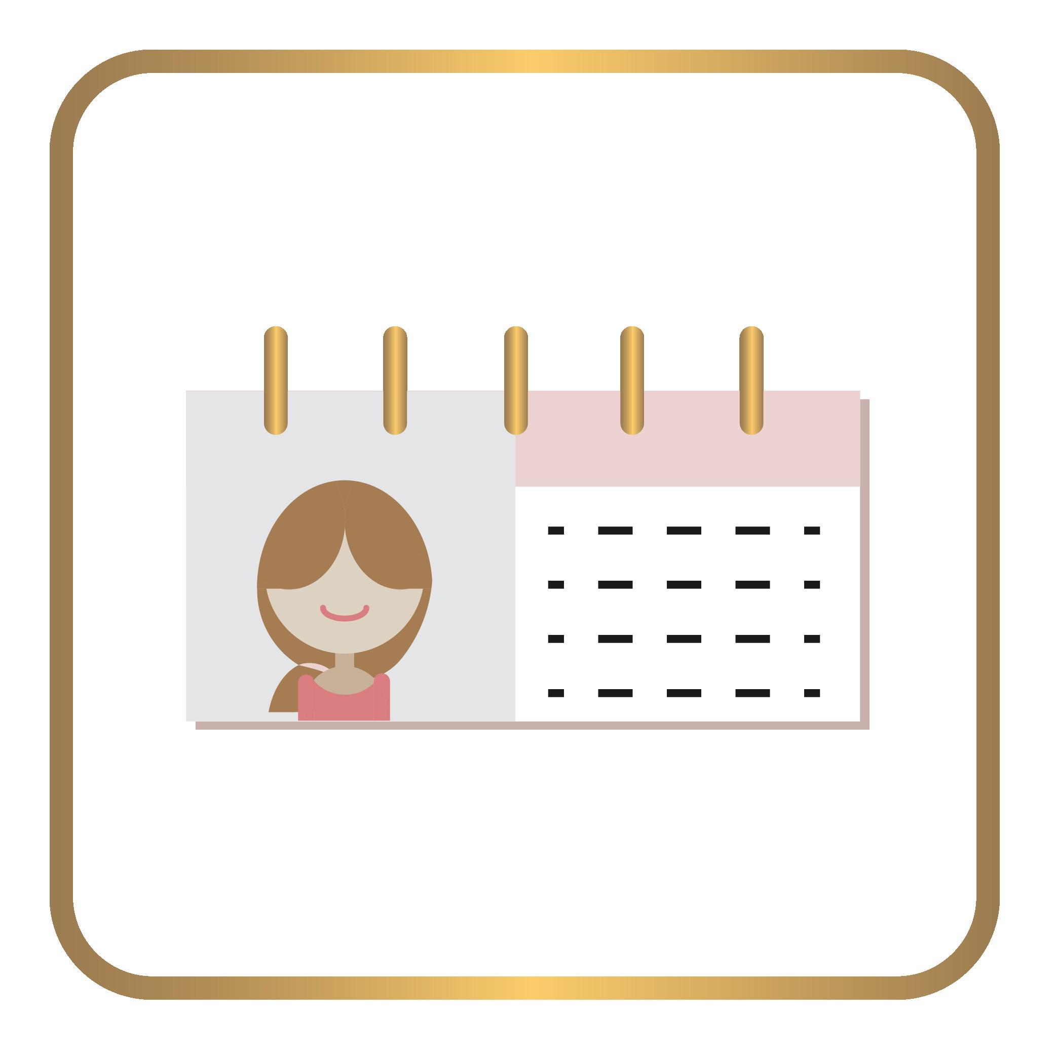 Iconos tienda online calendario