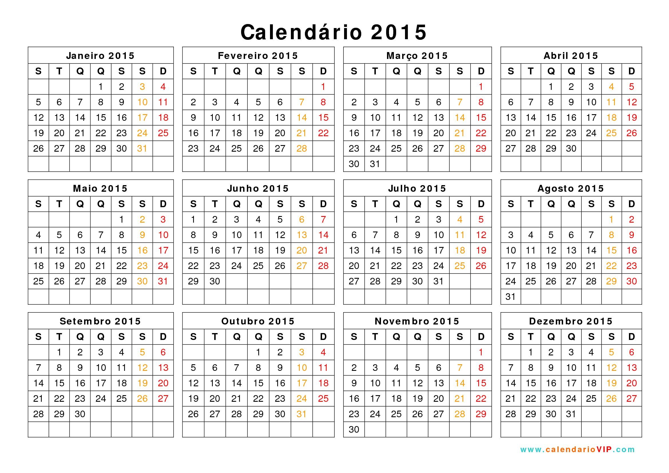 Calendarios 2015 03