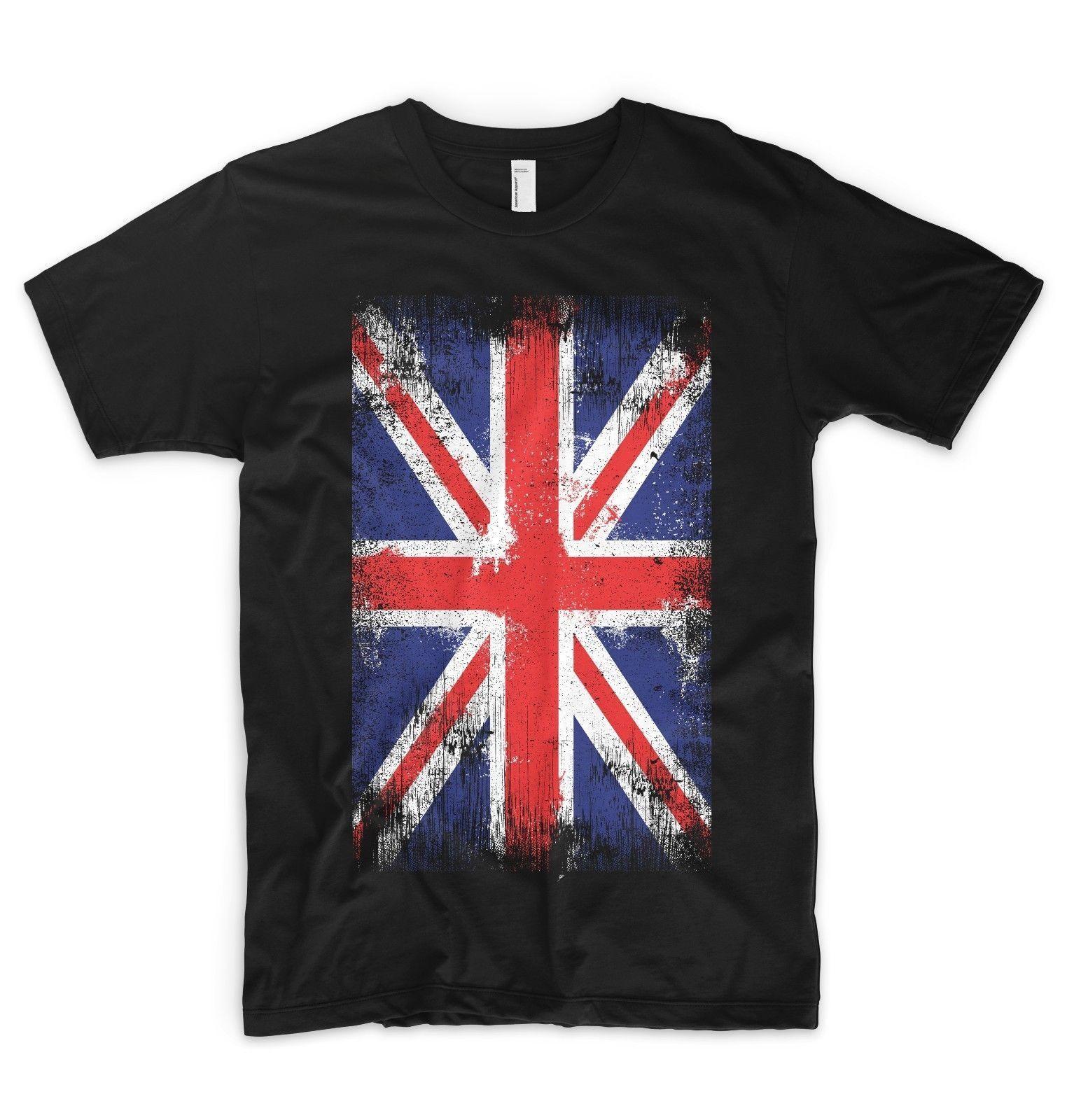 Union Jack T Shirt Reino Unido Bandeira Brit¢nica Gr£ Bretanha Reino Unido Inglaterra Londres